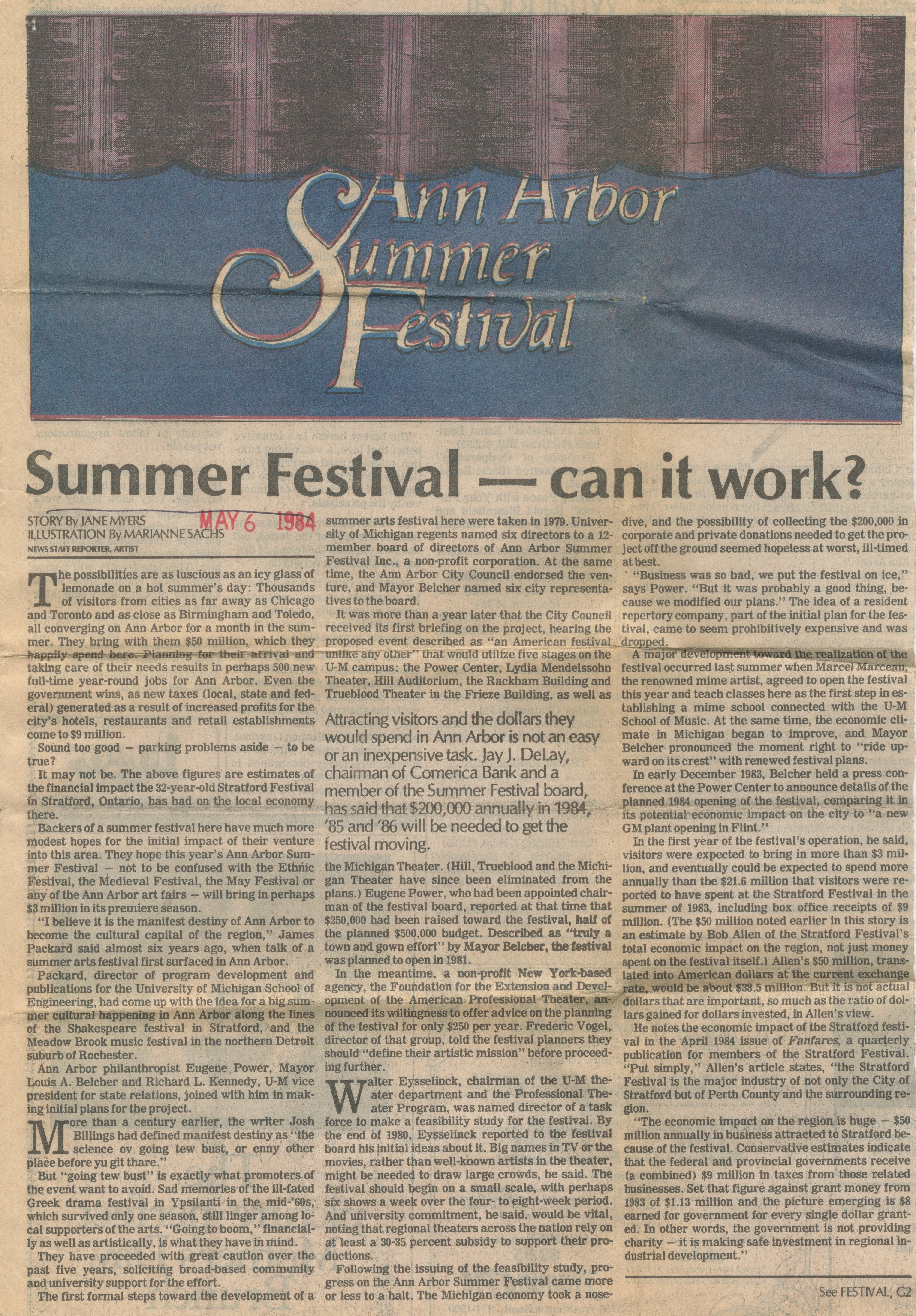 Summer Festival - can it work? image