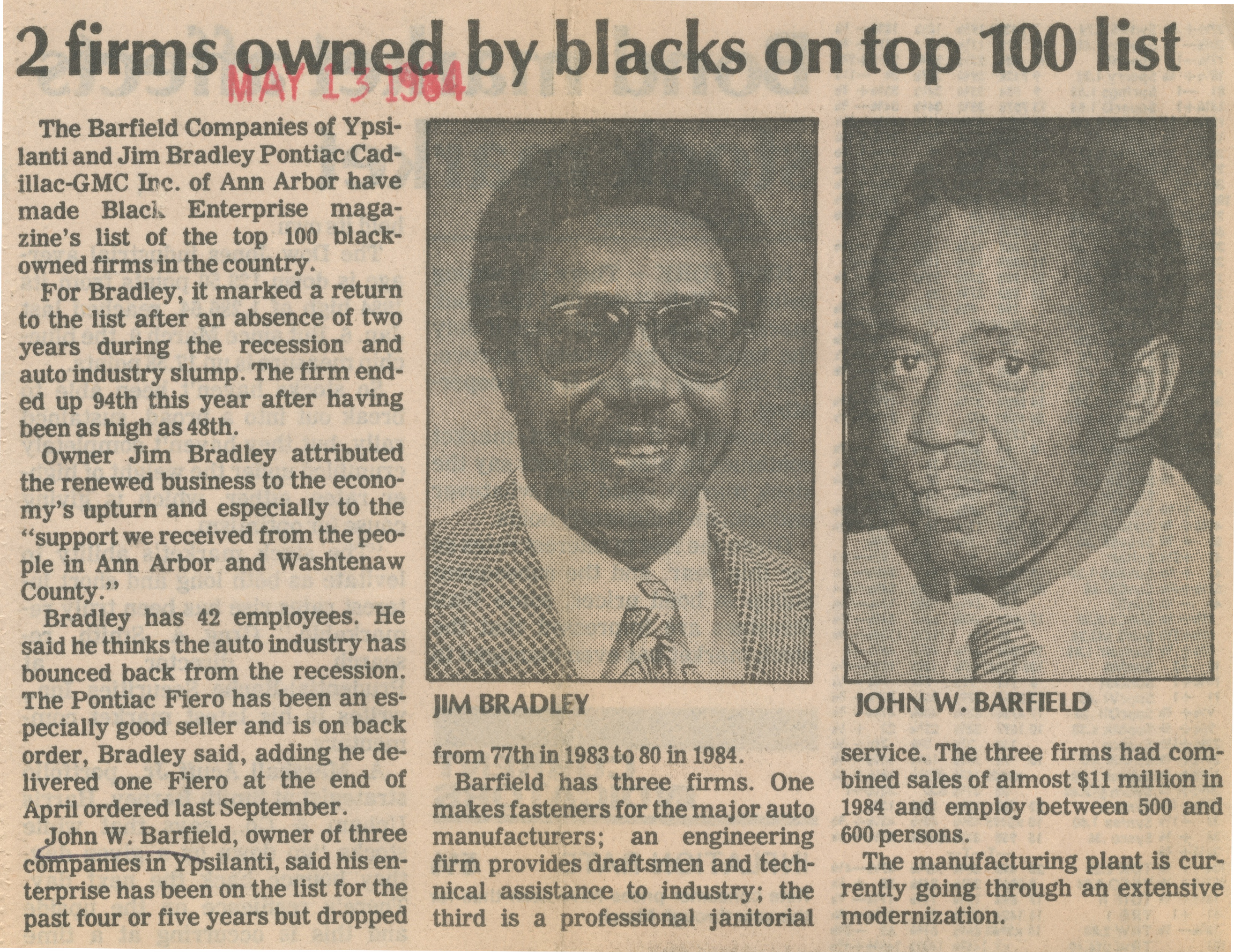 2 Firms Owned By Blacks On Top 100 List image