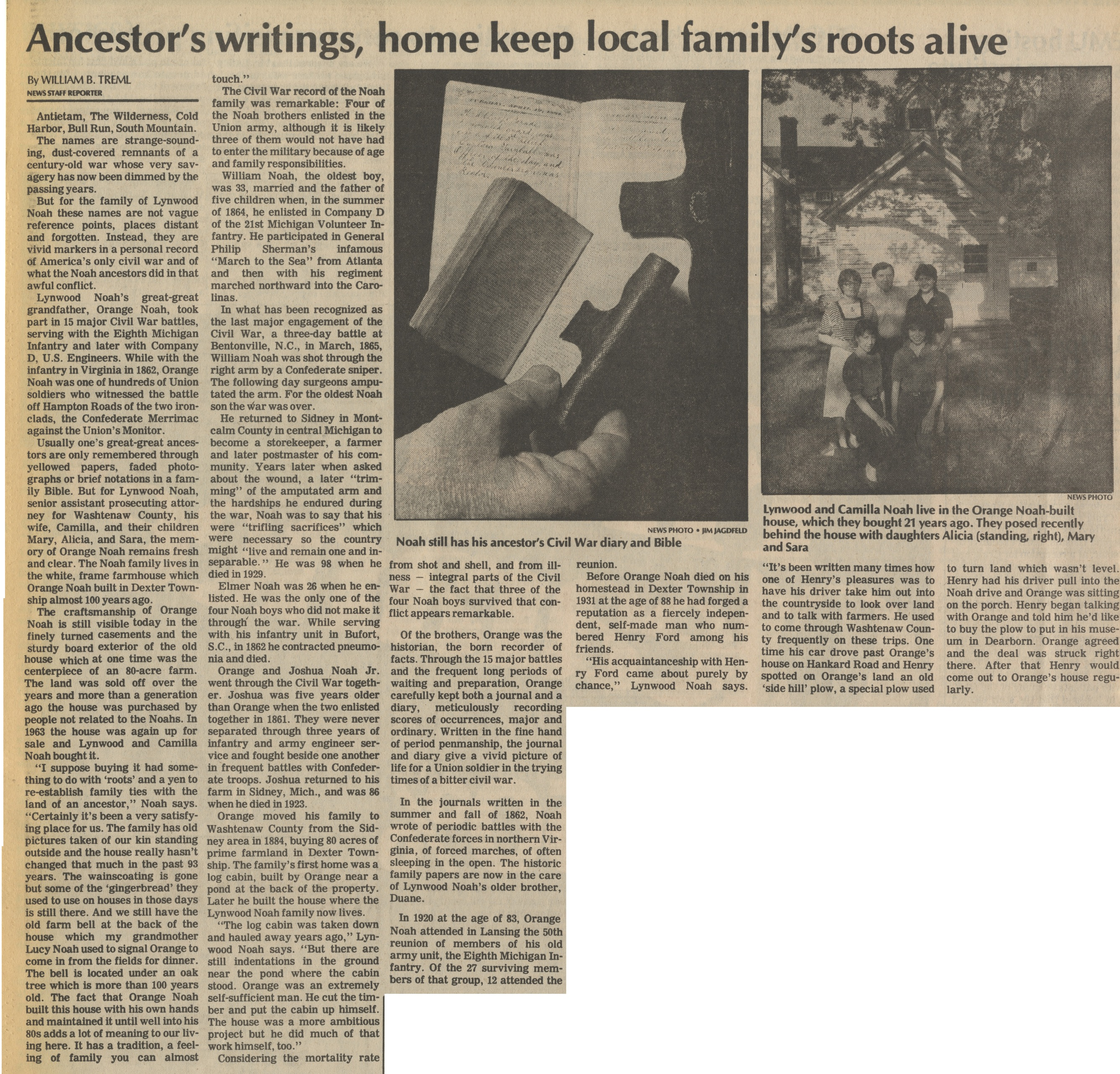 Ancestor's Writings, Home Keep Local Family's Roots Alive image