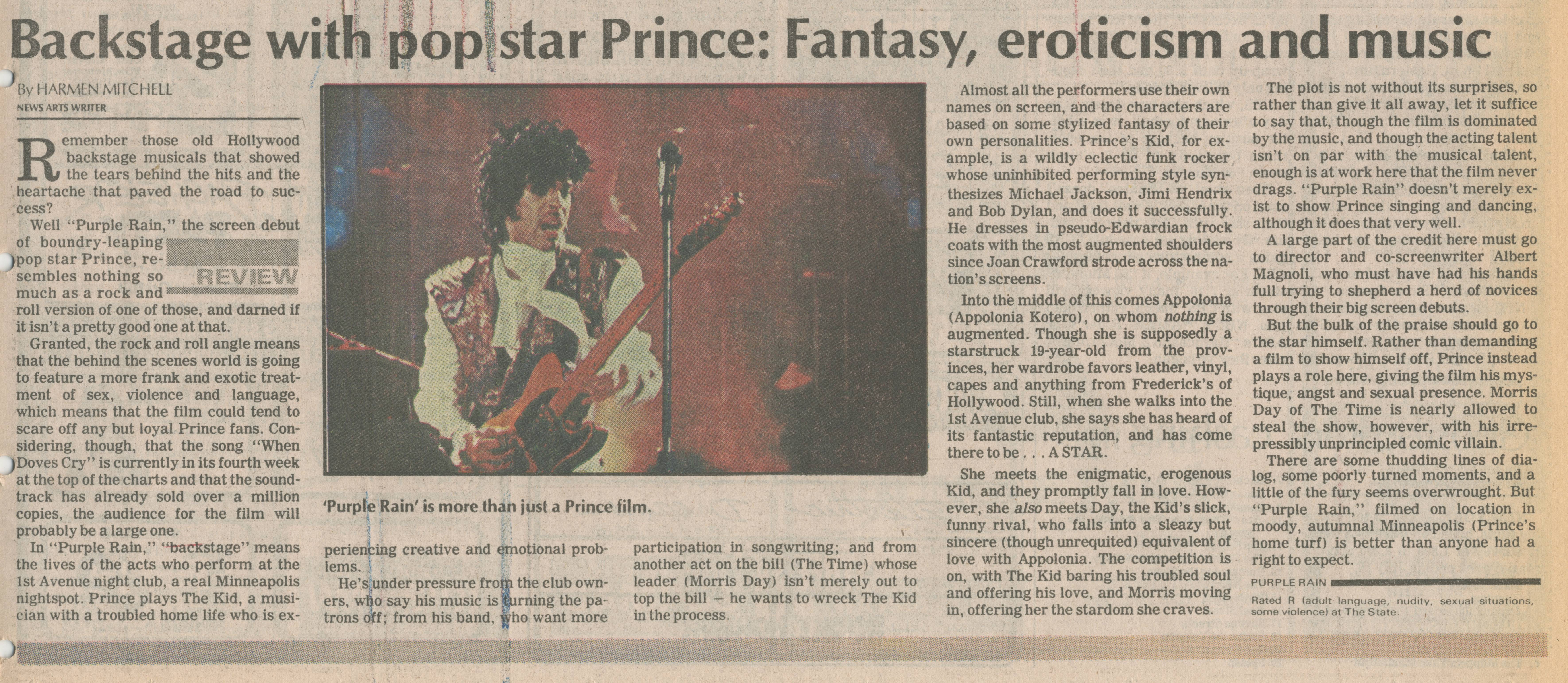 Backstage with pop star Prince: Fantasy, eroticism and music image
