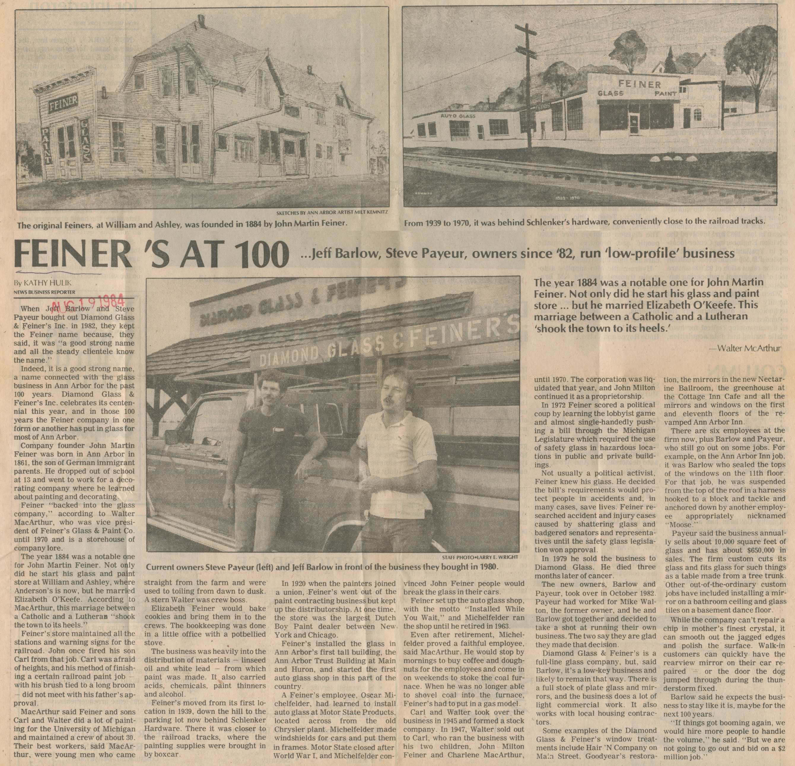 Feiner's At 100 image