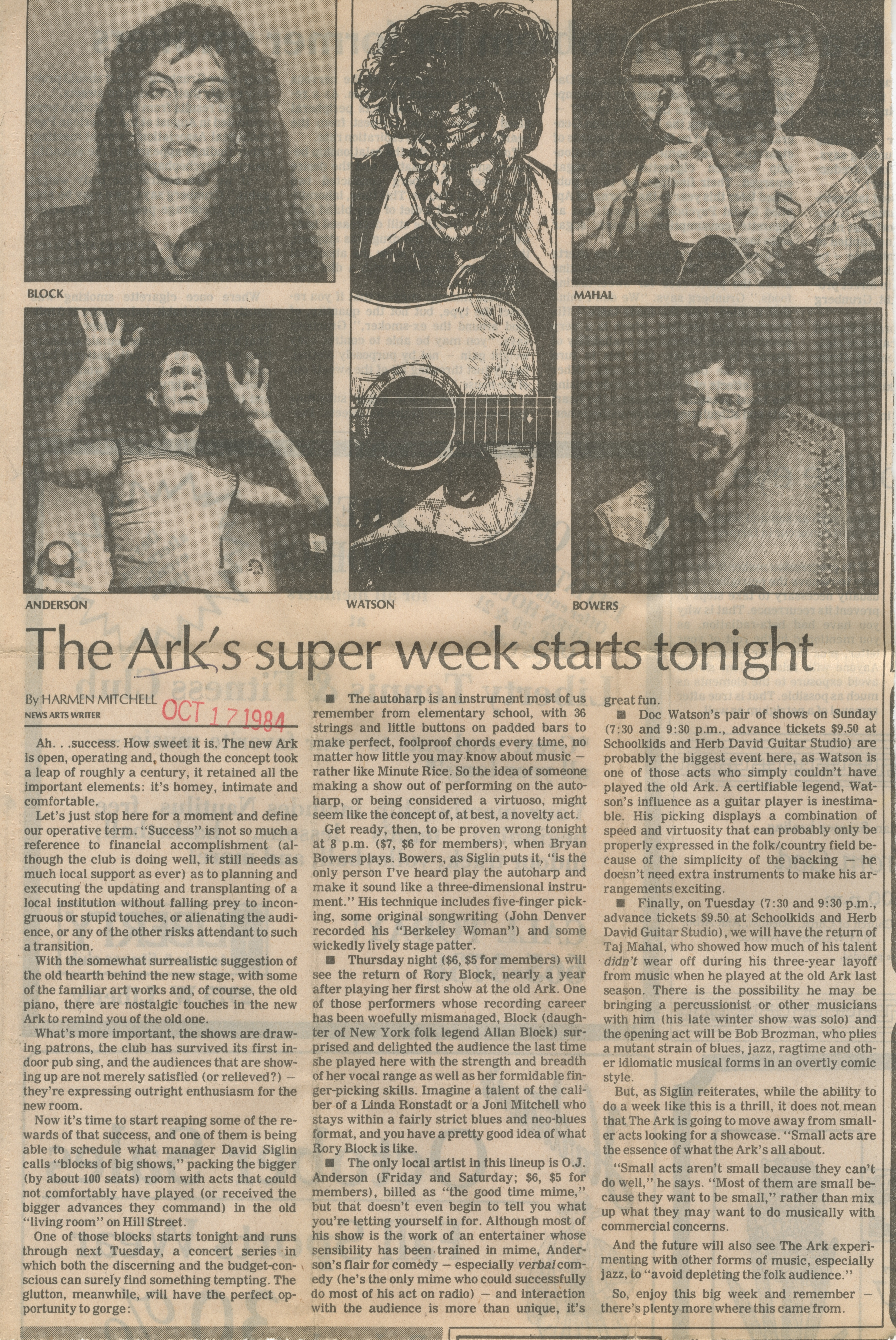 The Ark's Super Week Starts Tonight image