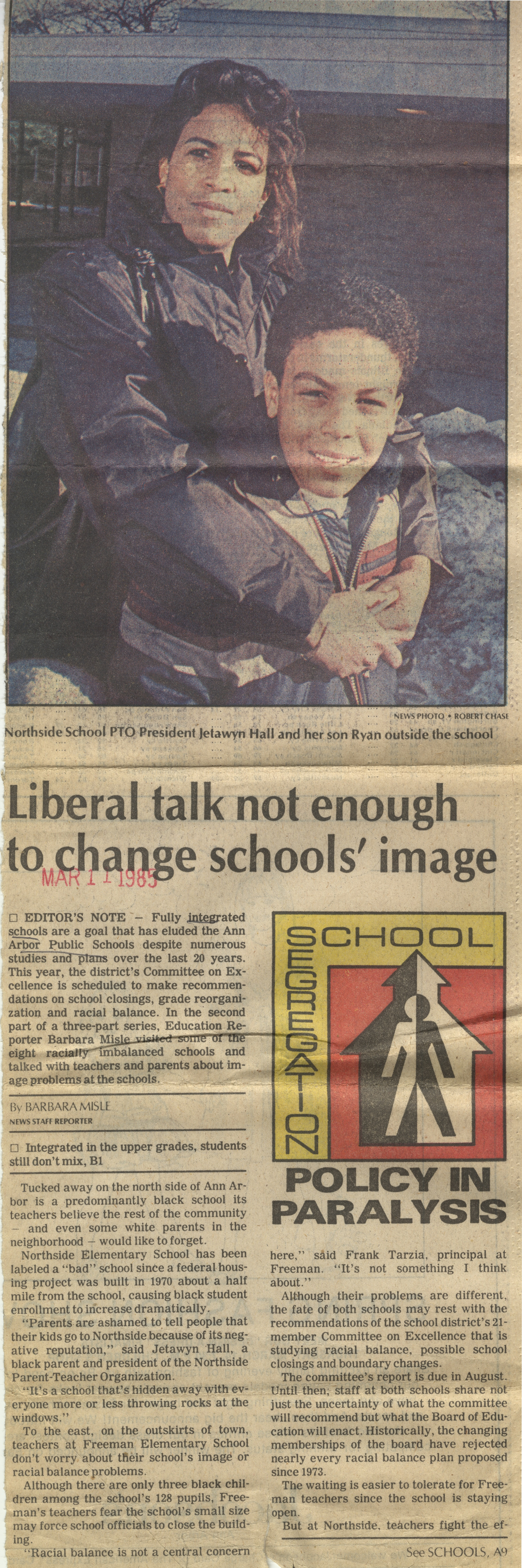 Liberal Talk Not Enough To Change Schools' Image image