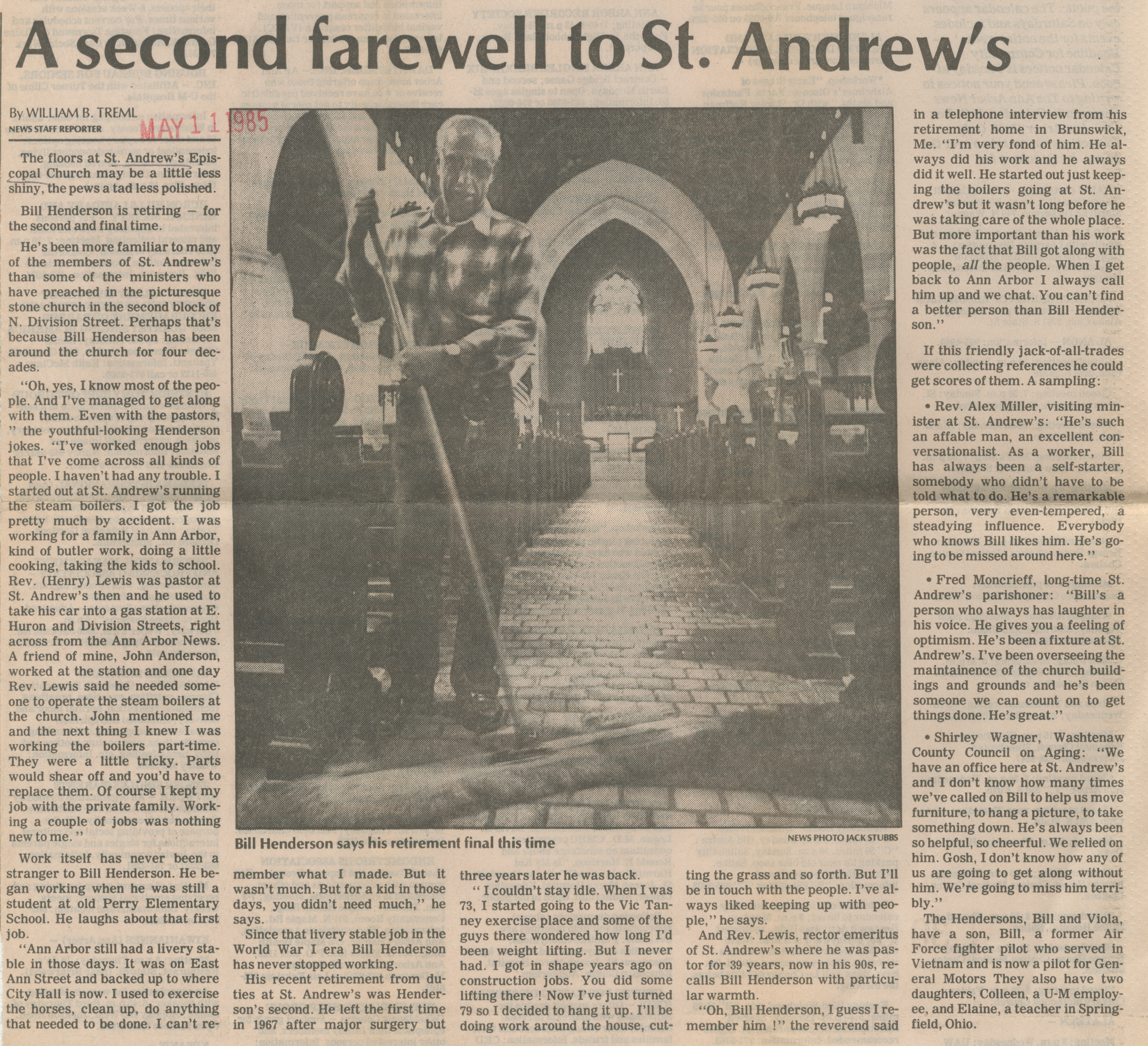 A Second Farewell To St. Andrew's image