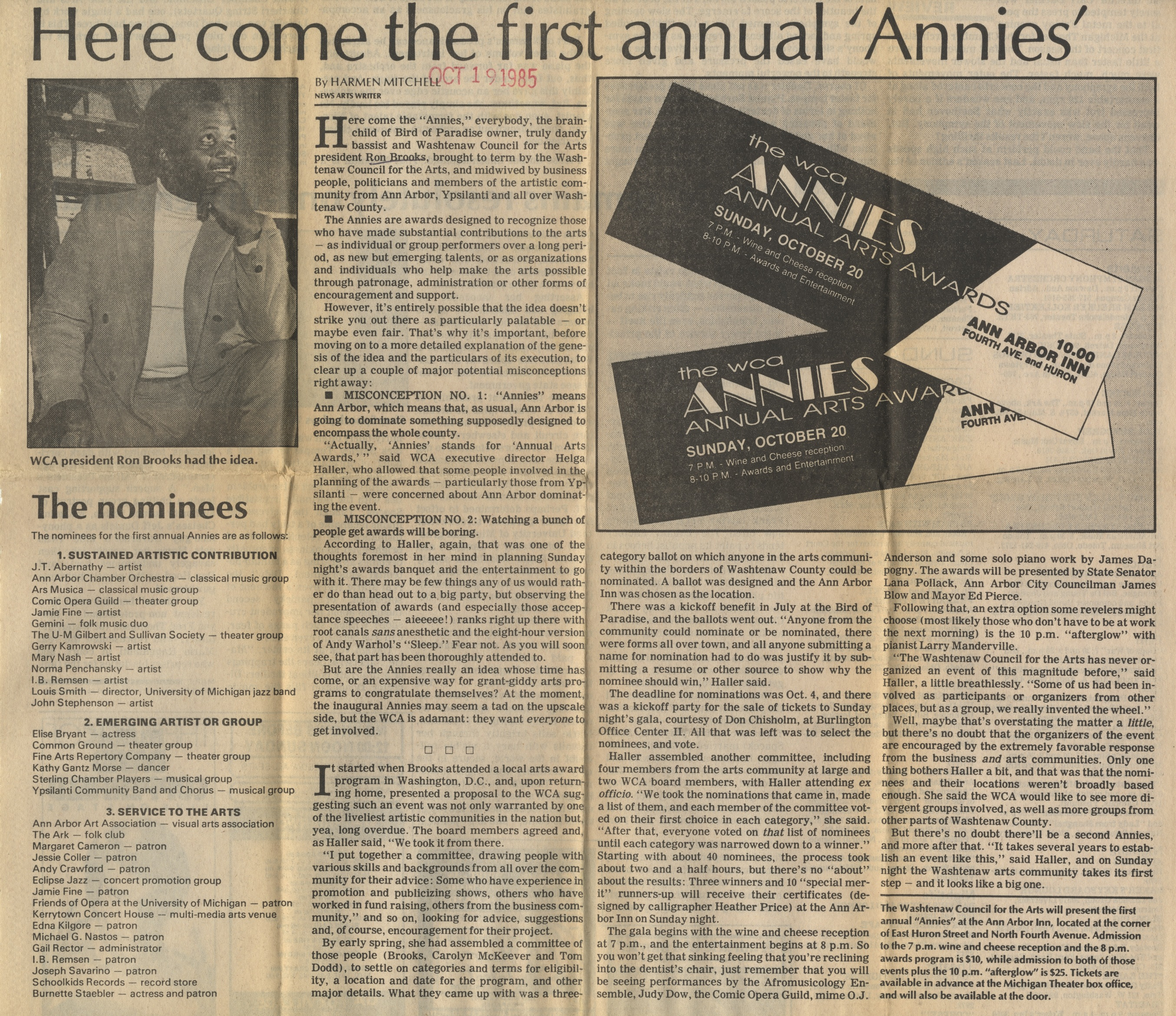 Here Come The First Annual 'Annies' image