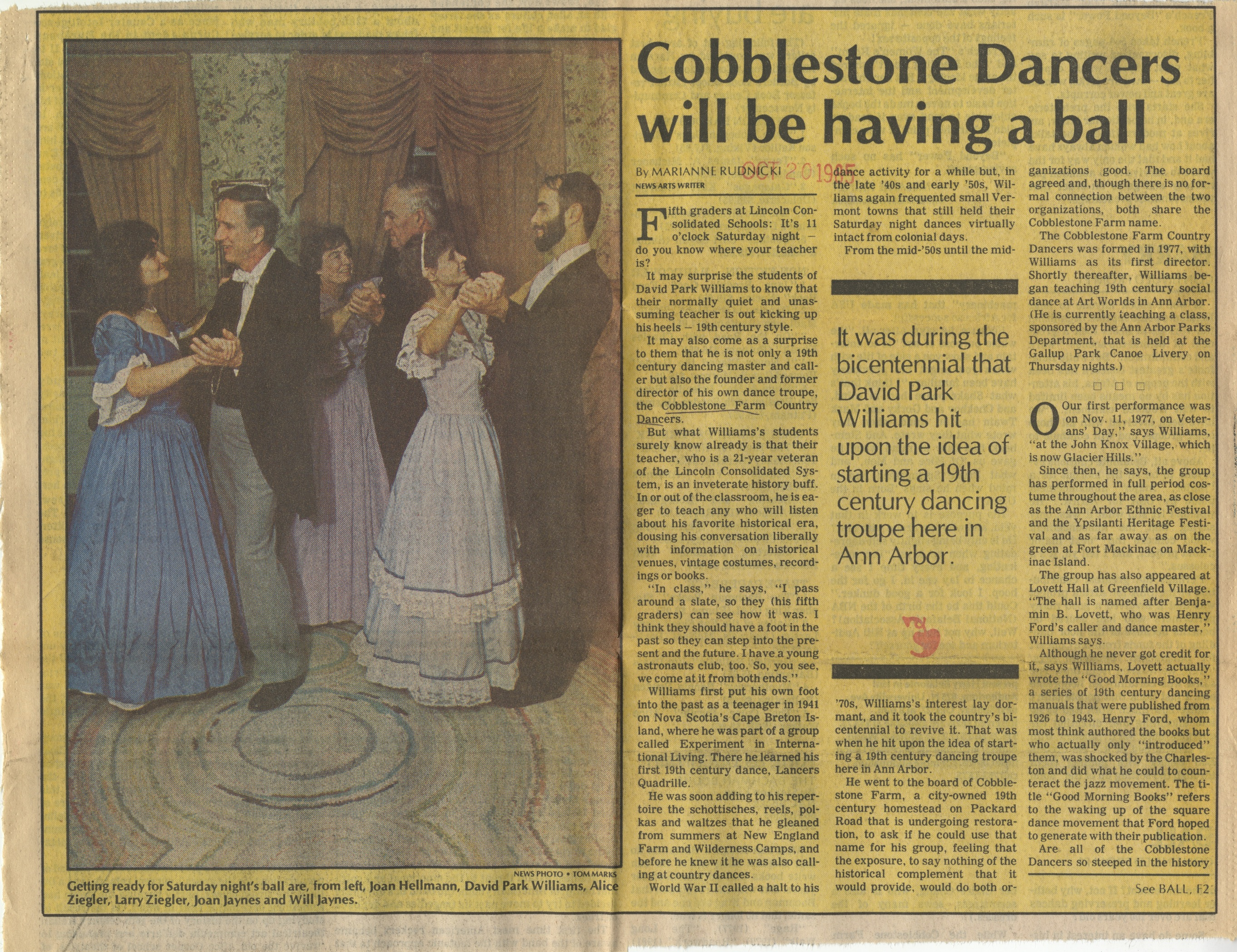 Cobblestone Dancers Will Have A Ball image