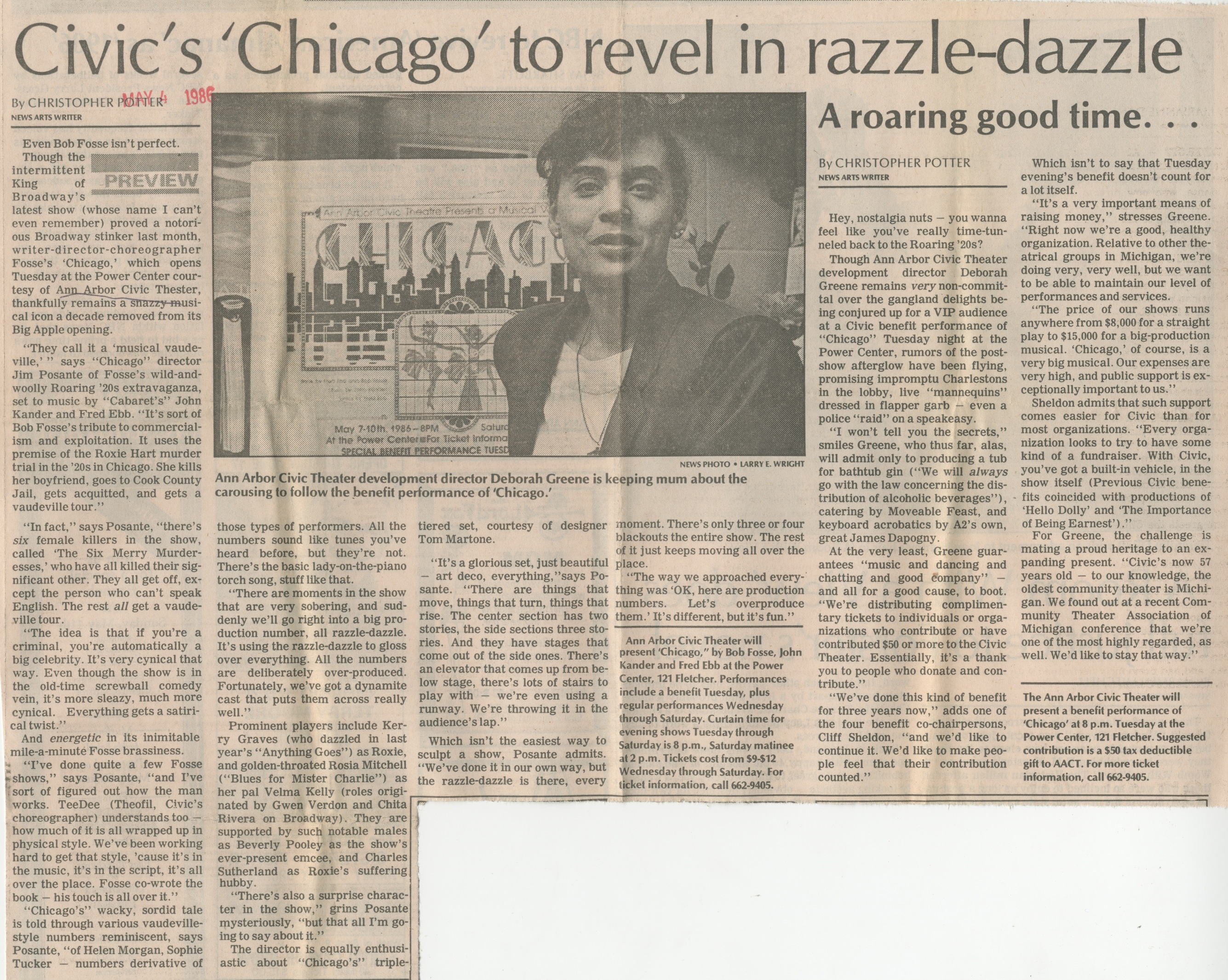 Civic's 'Chicago' To Revel In Razzle-Dazzle - A Roaring Good Time . . . image