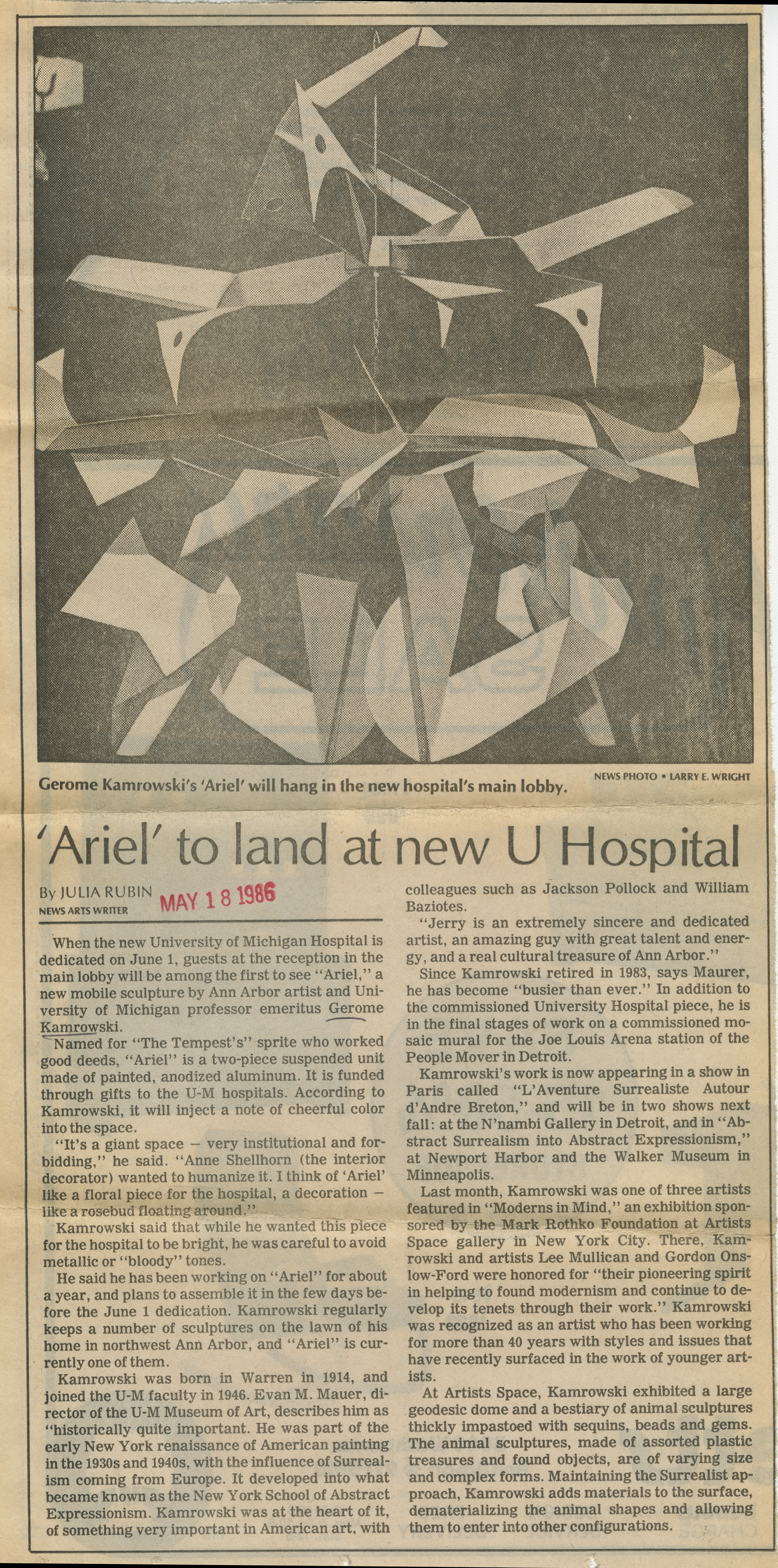 'Ariel' to land at new U Hospital image