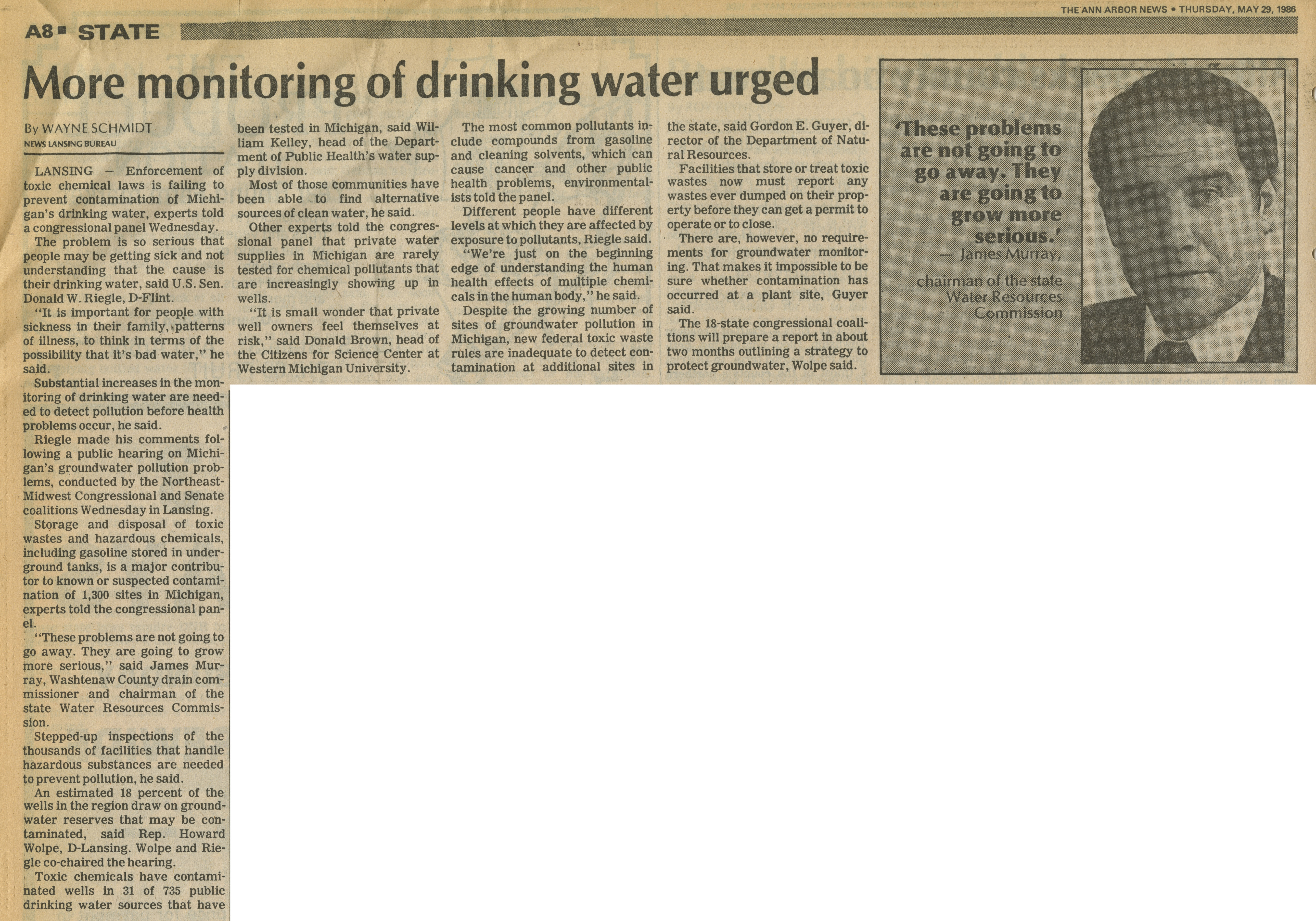 More monitoring of drinking water urged image