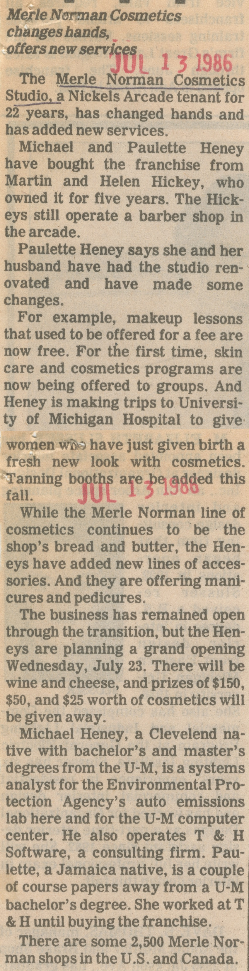 Merle Norman Cosmetics Changes Hands, Offers New Services image