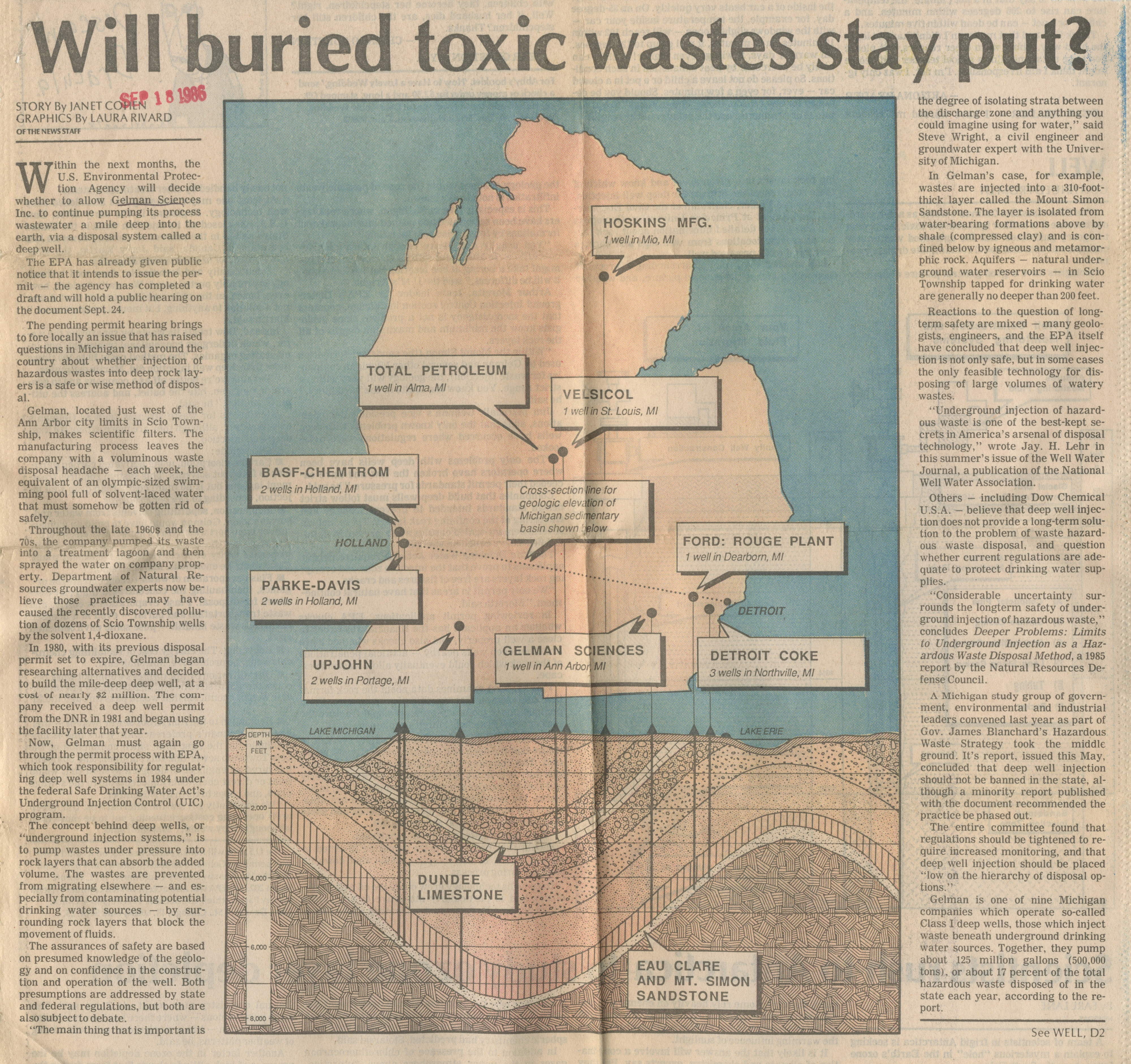 Will Buried Toxic Wastes Stay Put? image