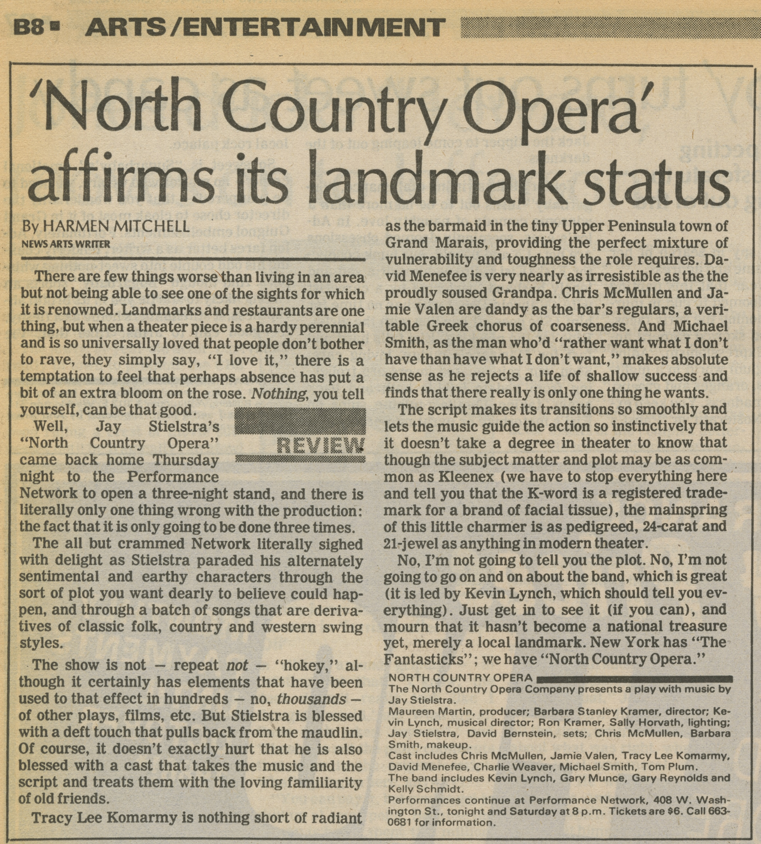 'North Country Opera' affirms its landmark status image