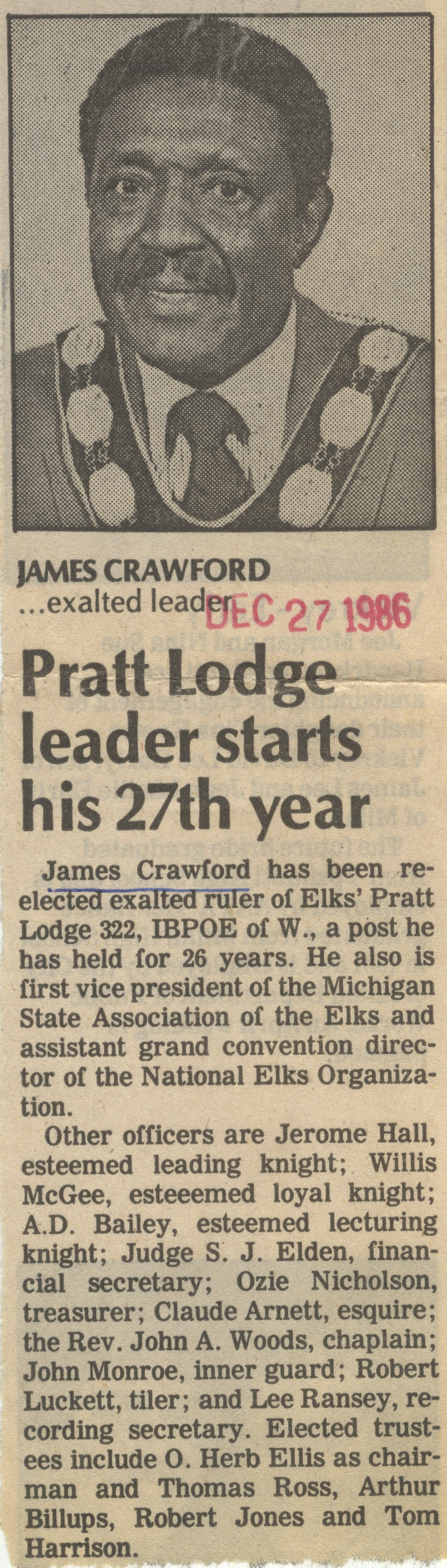 Pratt Lodge Leader Starts His 27th Year image
