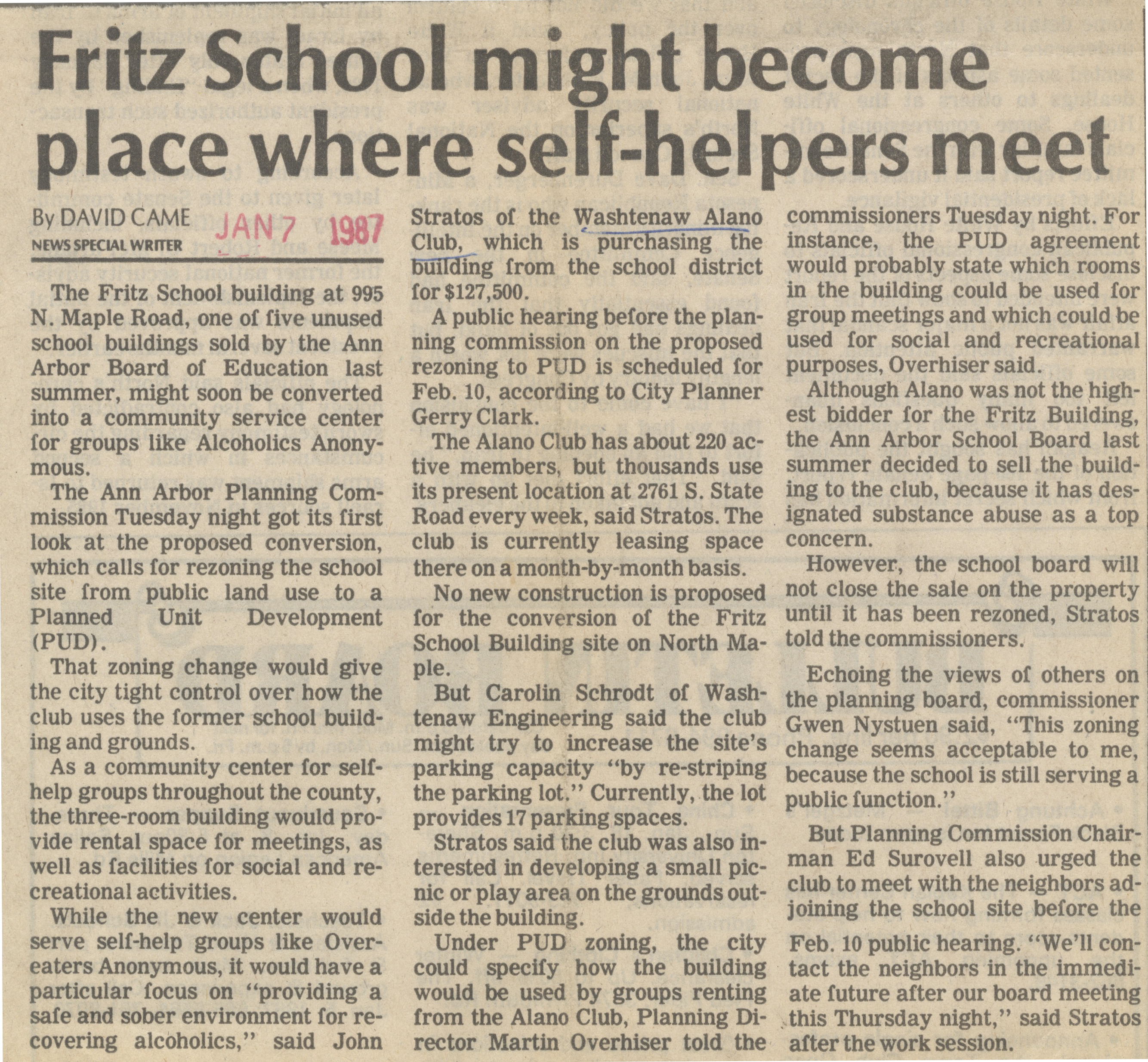 Fritz School Might Become Place Where Self-Helpers Meet image