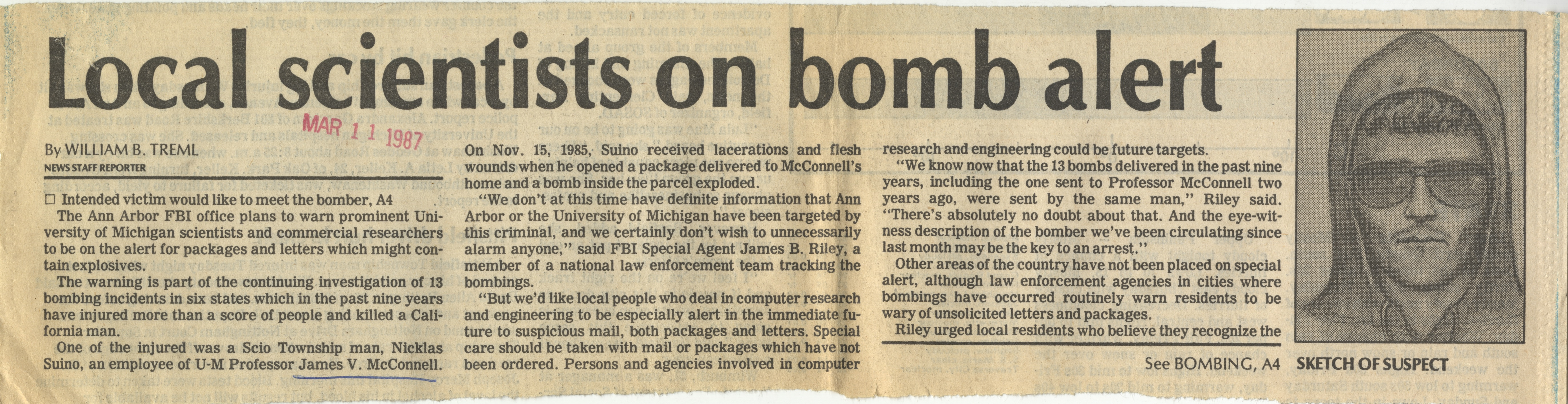 Local Scientists On Bomb Alert image