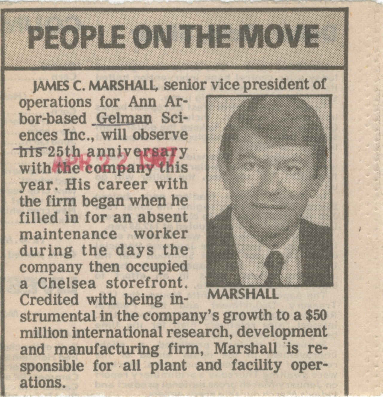 James C. Marshall, Senior Vice President of Operations  image