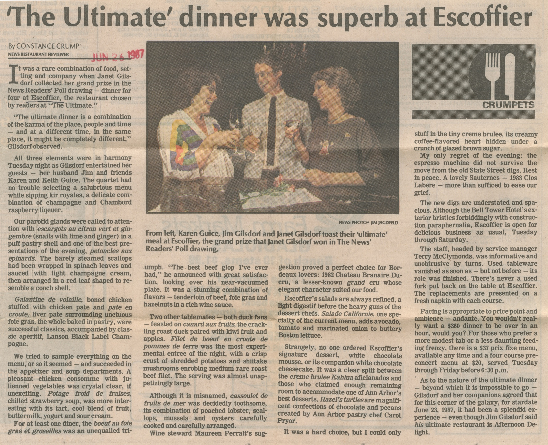 'The Ultimate' Dinner Was Superb At Escoffier image