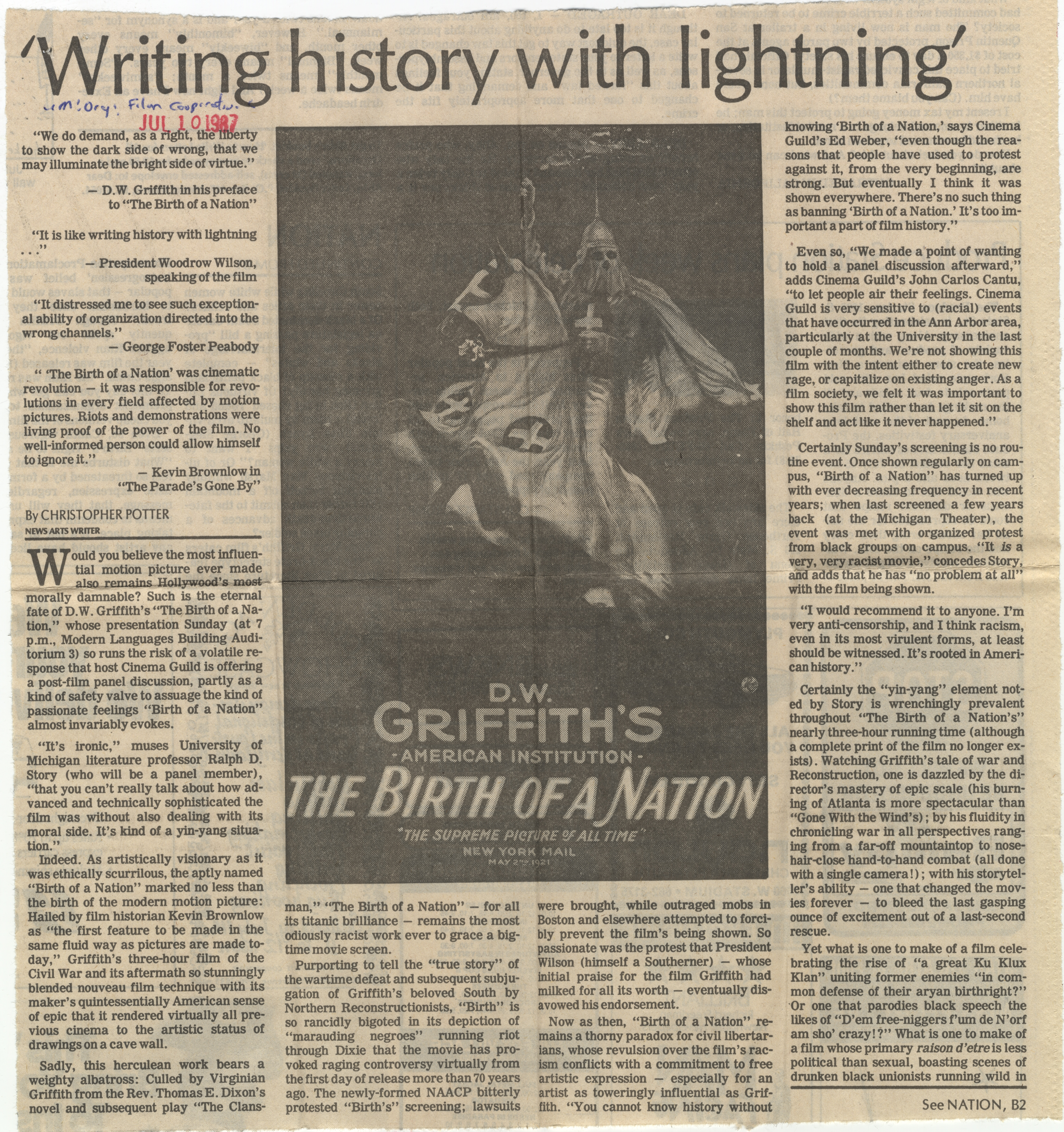 'Writing history with lightning' image
