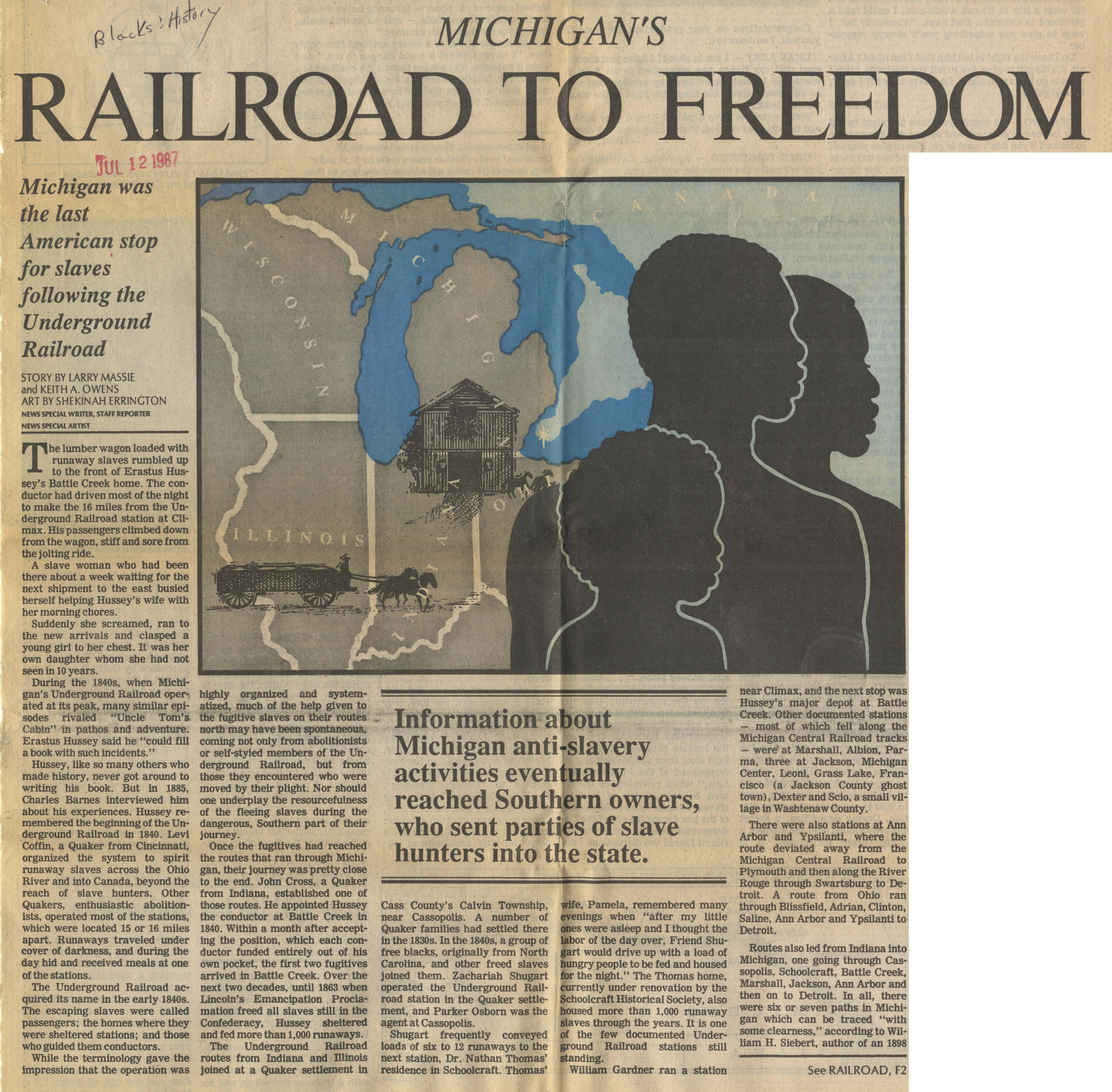 Michigan's Railroad To Freedom image
