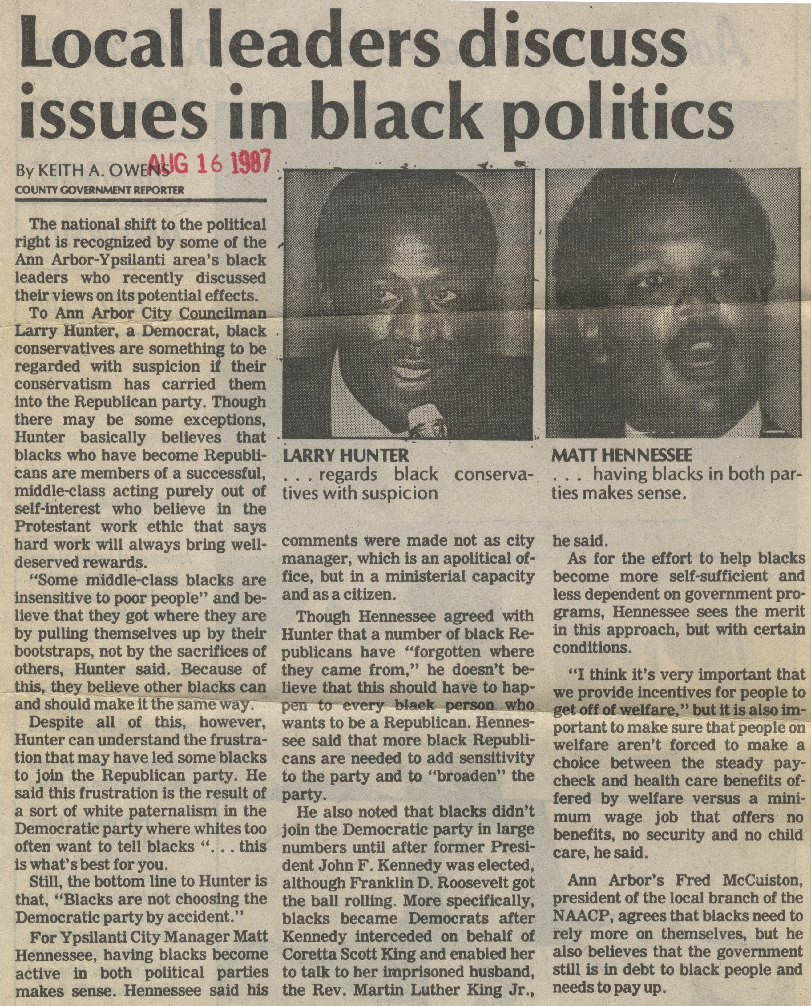 Local Leaders Discuss Issues In Black Politics image