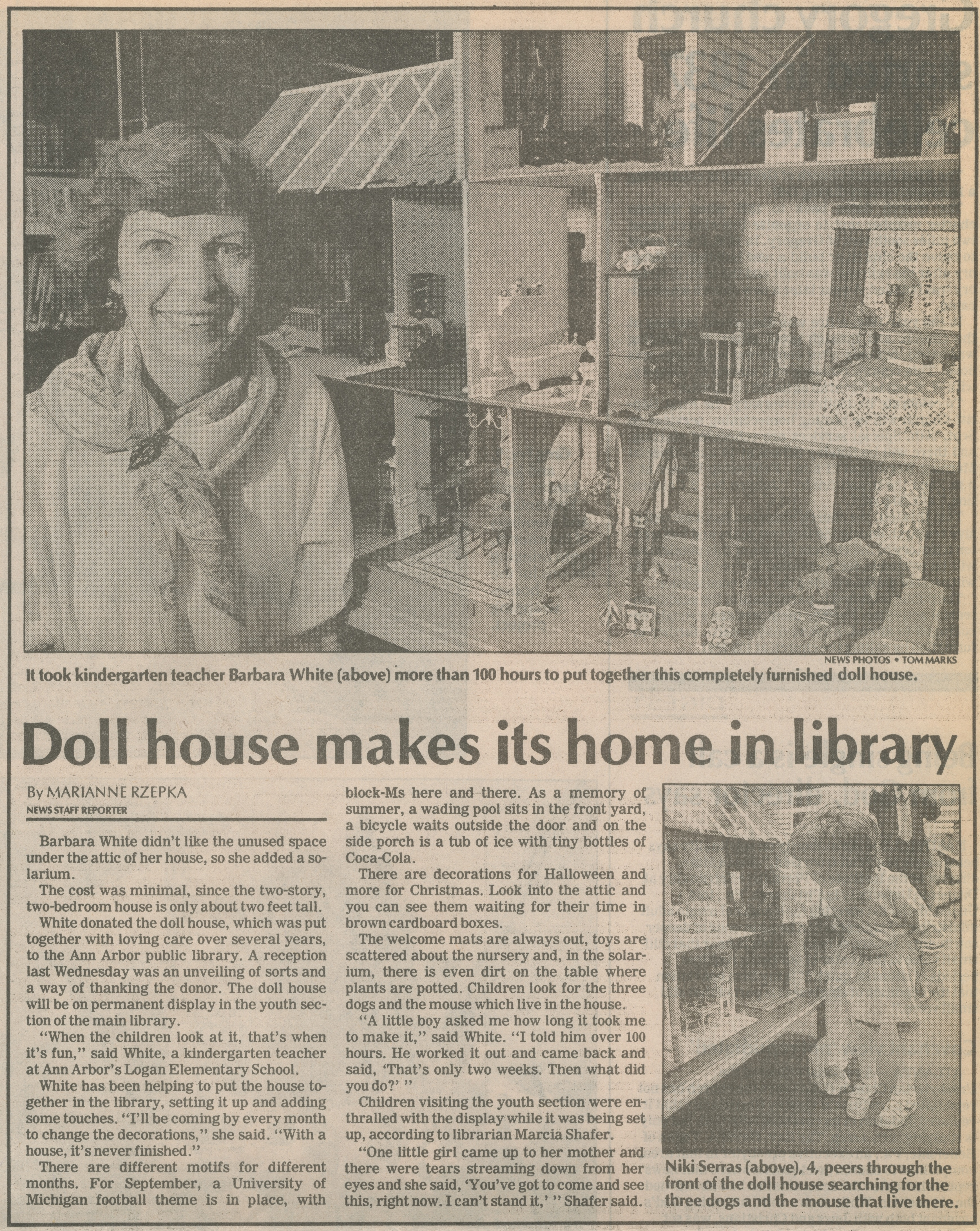 Doll House Makes Its Home In Library image
