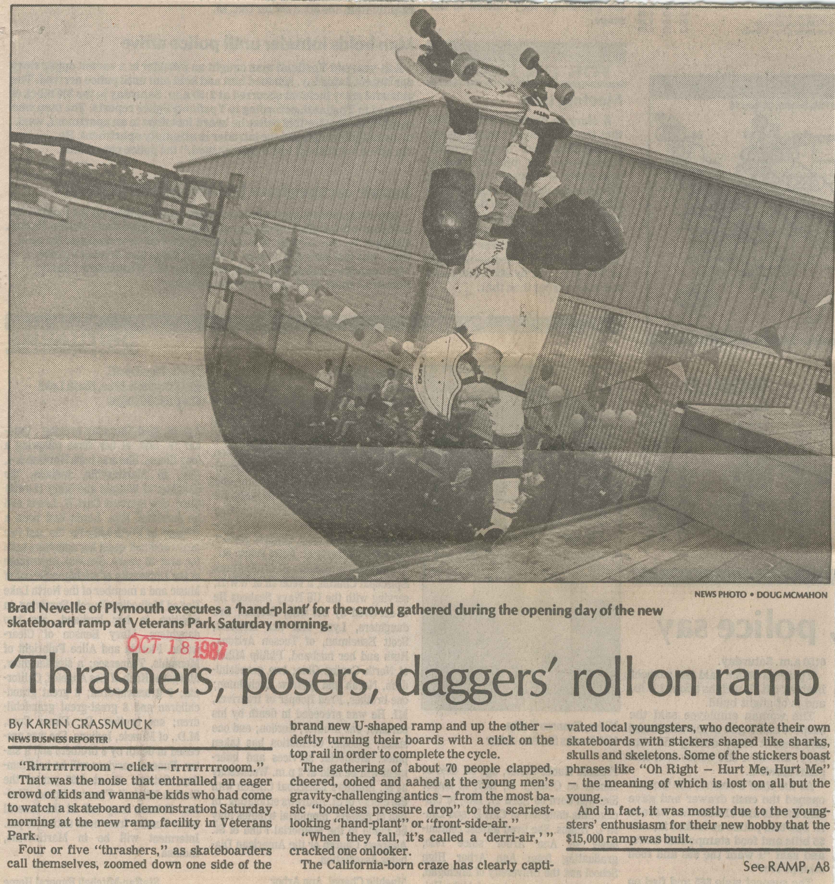 'Thrasers, Posers, Daggers' Roll On Ramp image