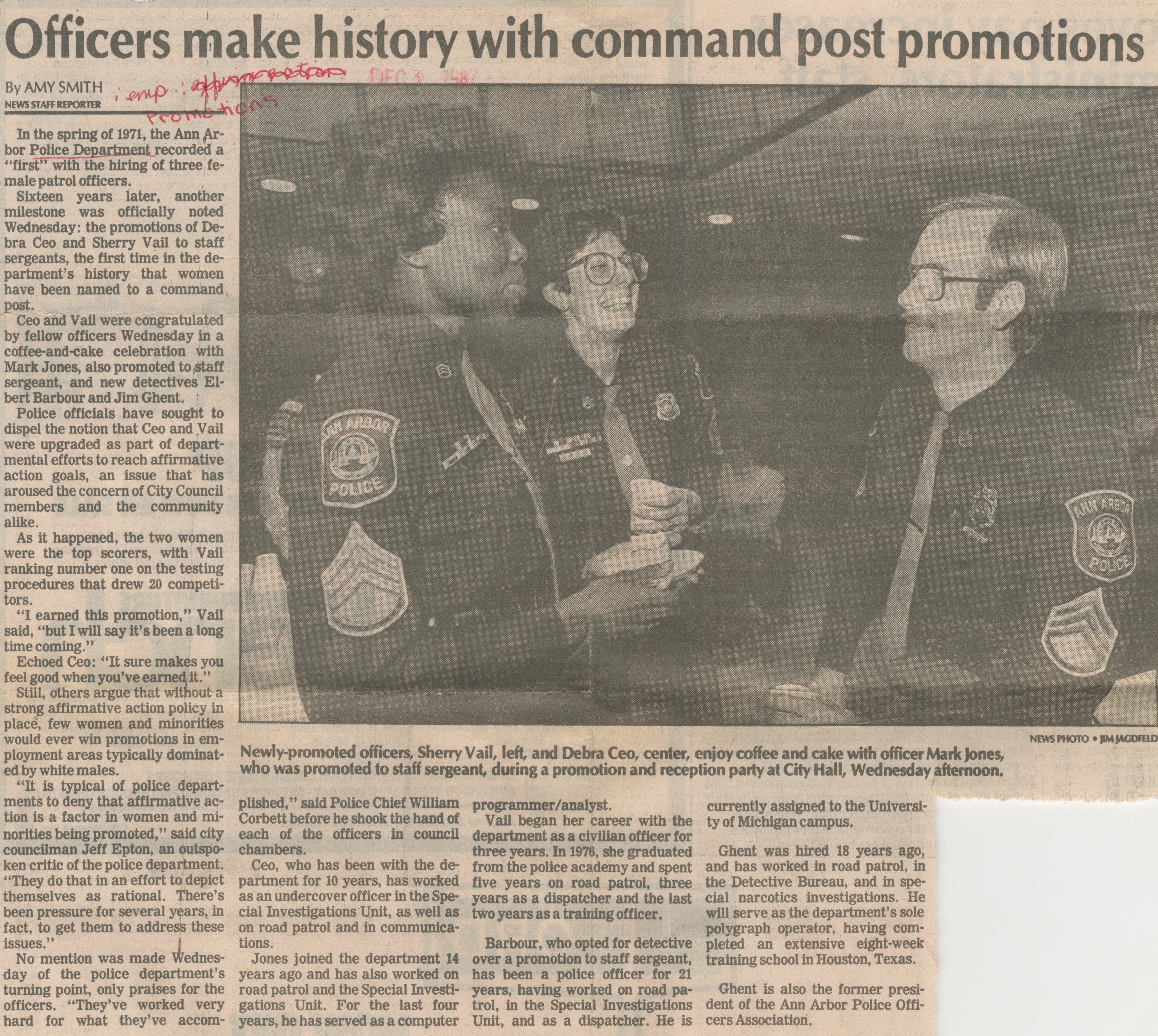Officers Make History With Command Post Promotions image