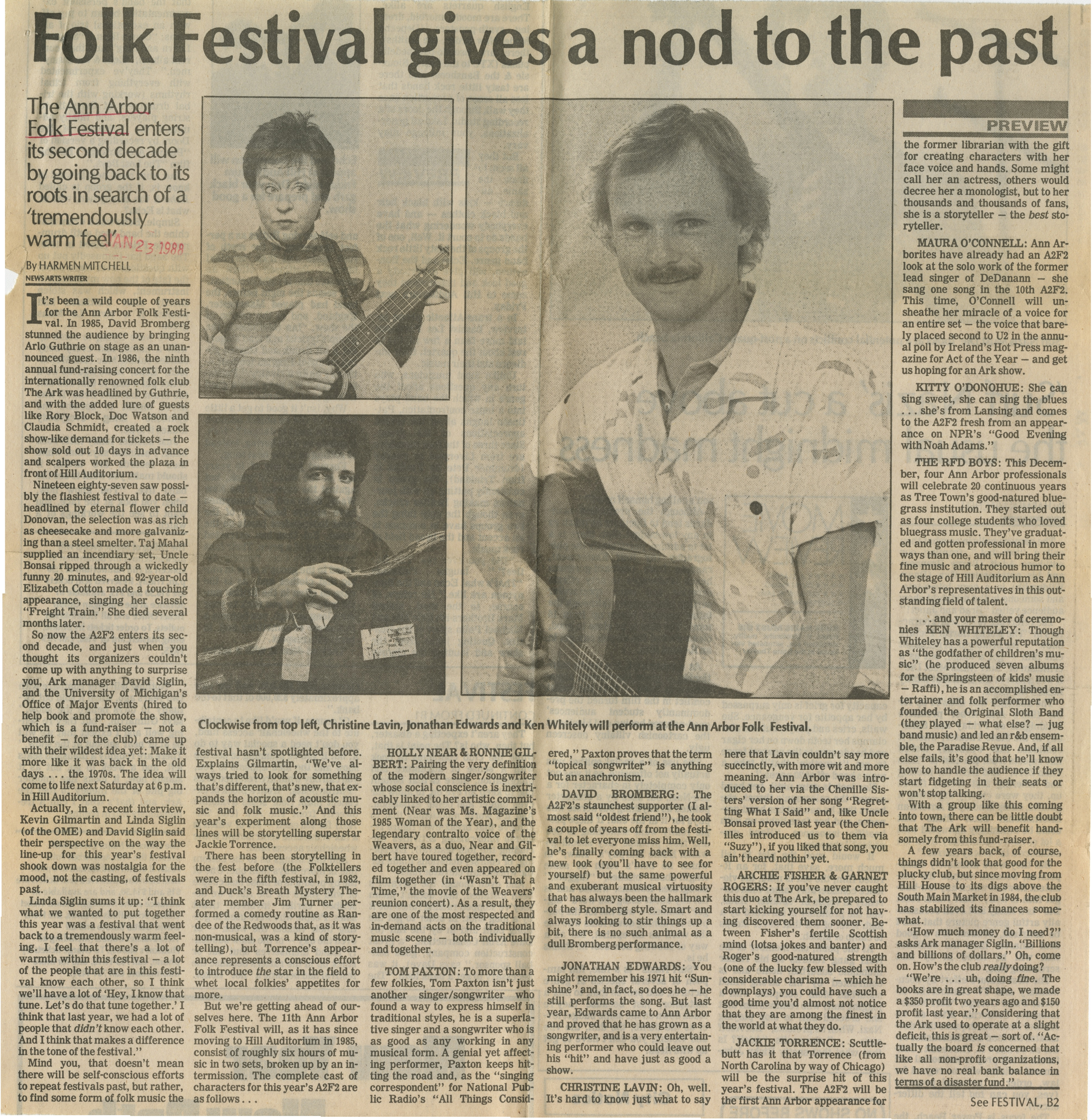 Folk Festival gives a nod to the past image