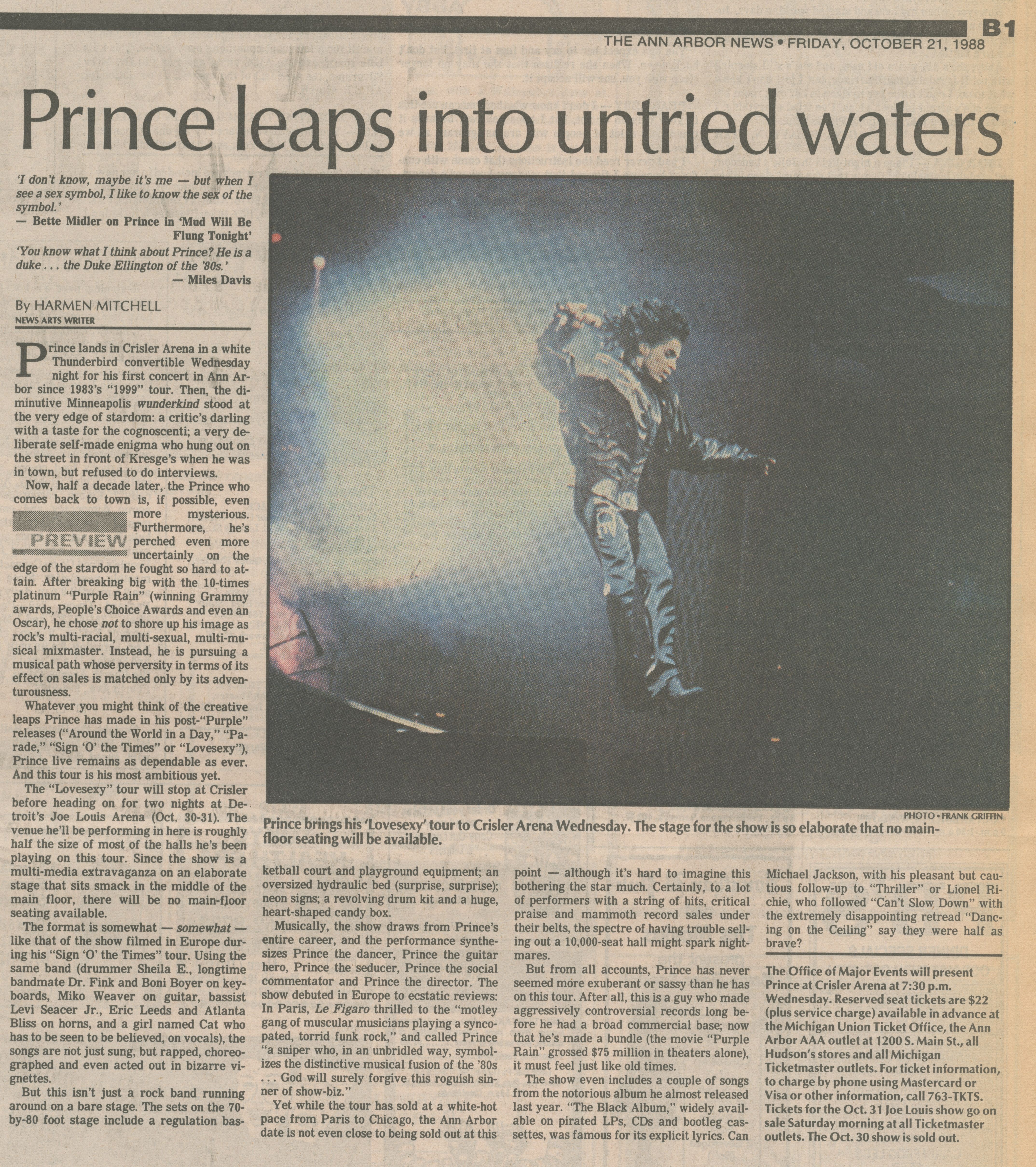 Prince leaps into untried waters image