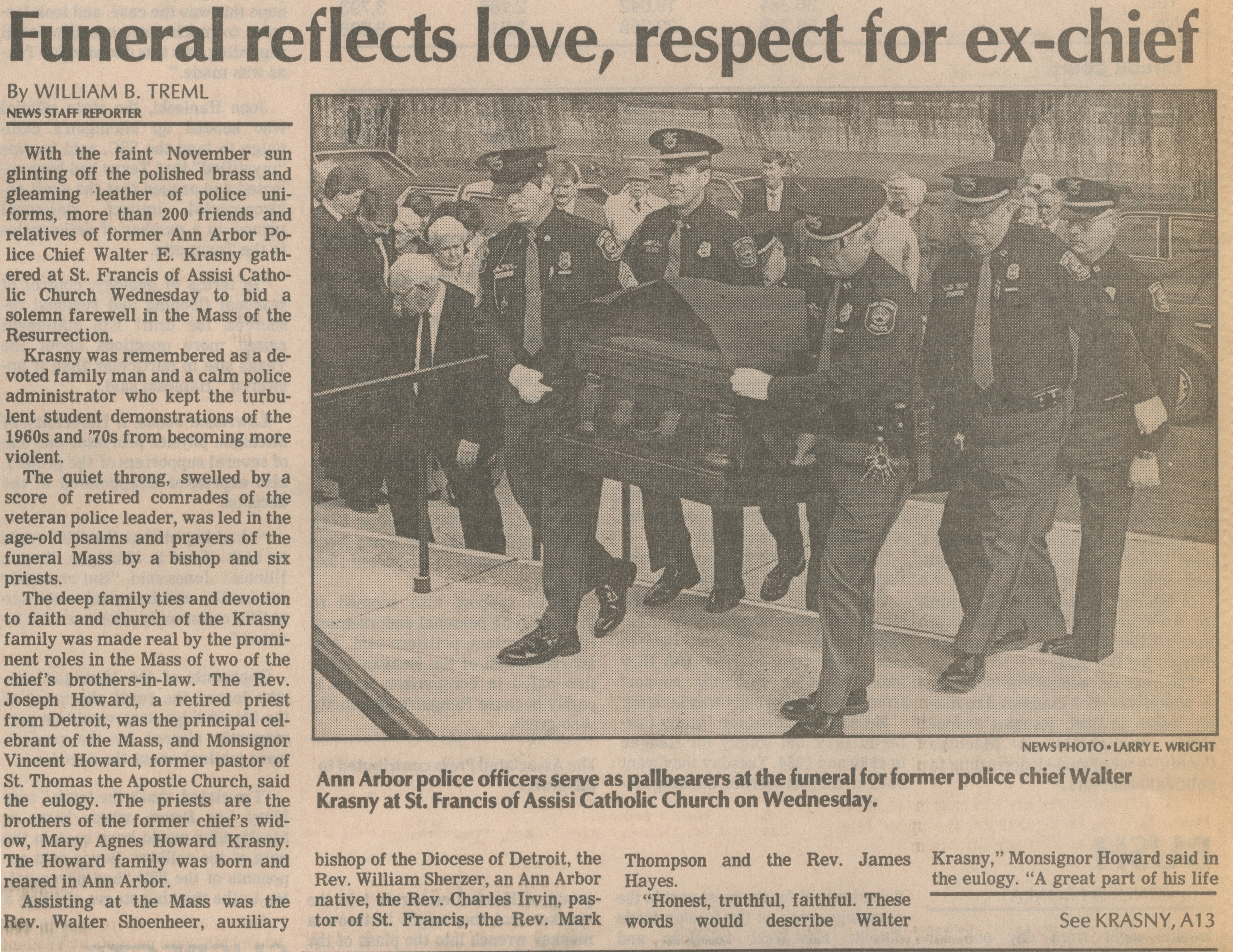 Funeral Reflects Love, Respect For Ex-Chief image