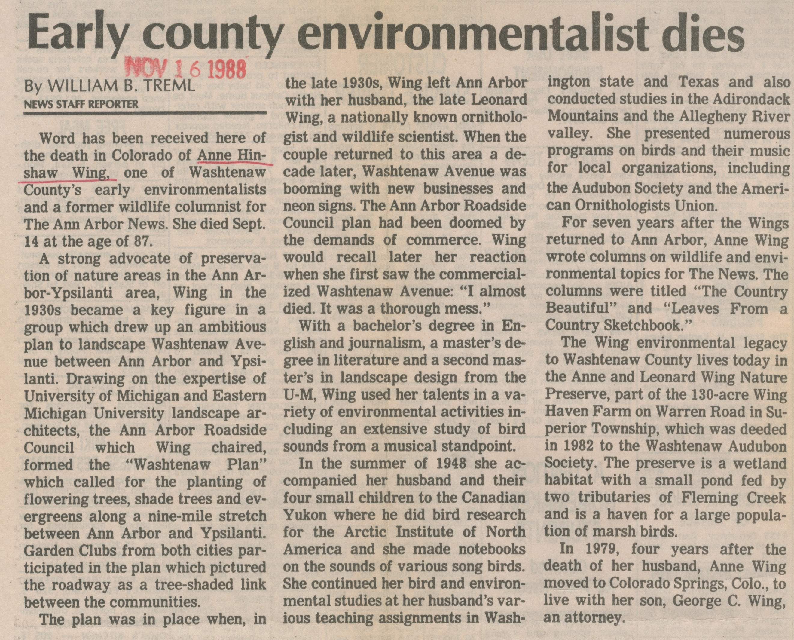 Early County Environmentalist Dies image