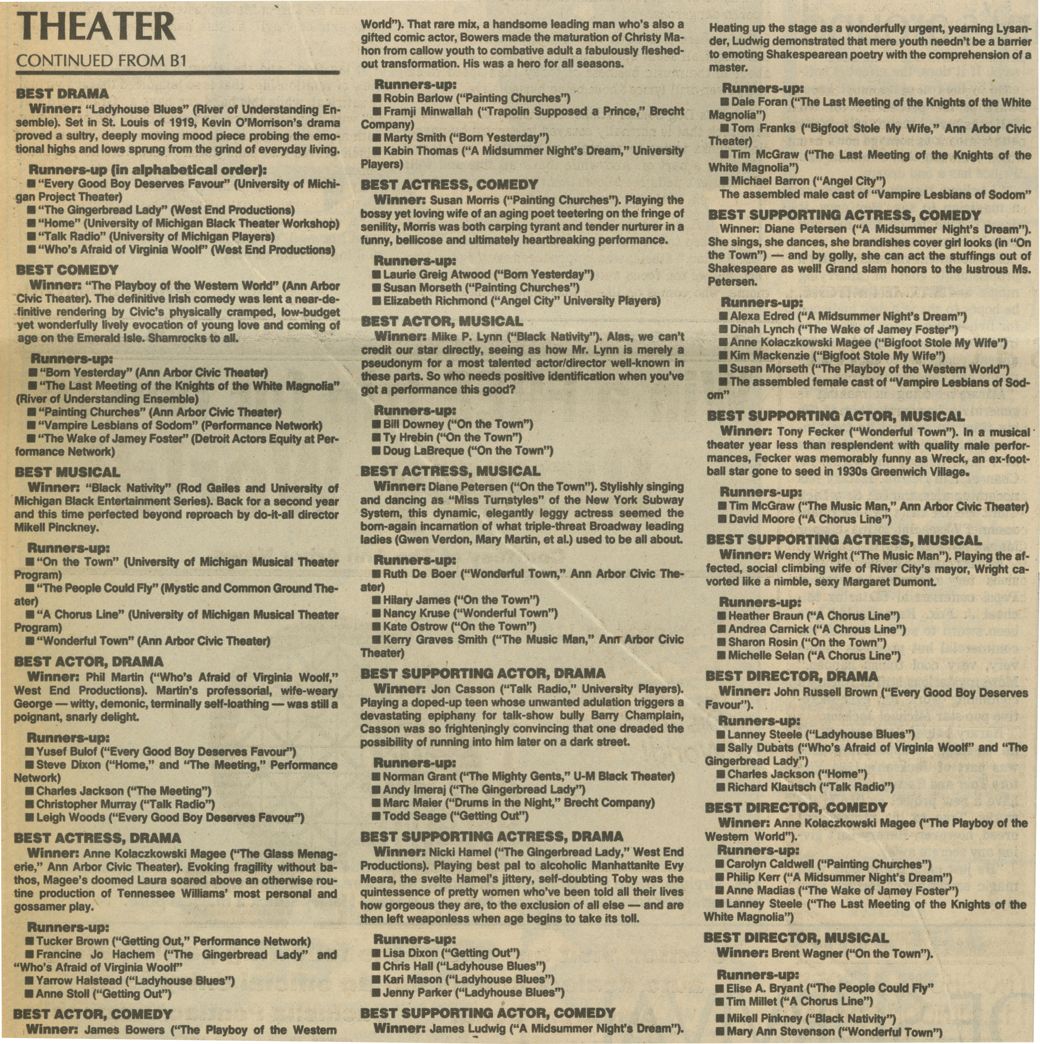 Quality theater blossomed in '88 image