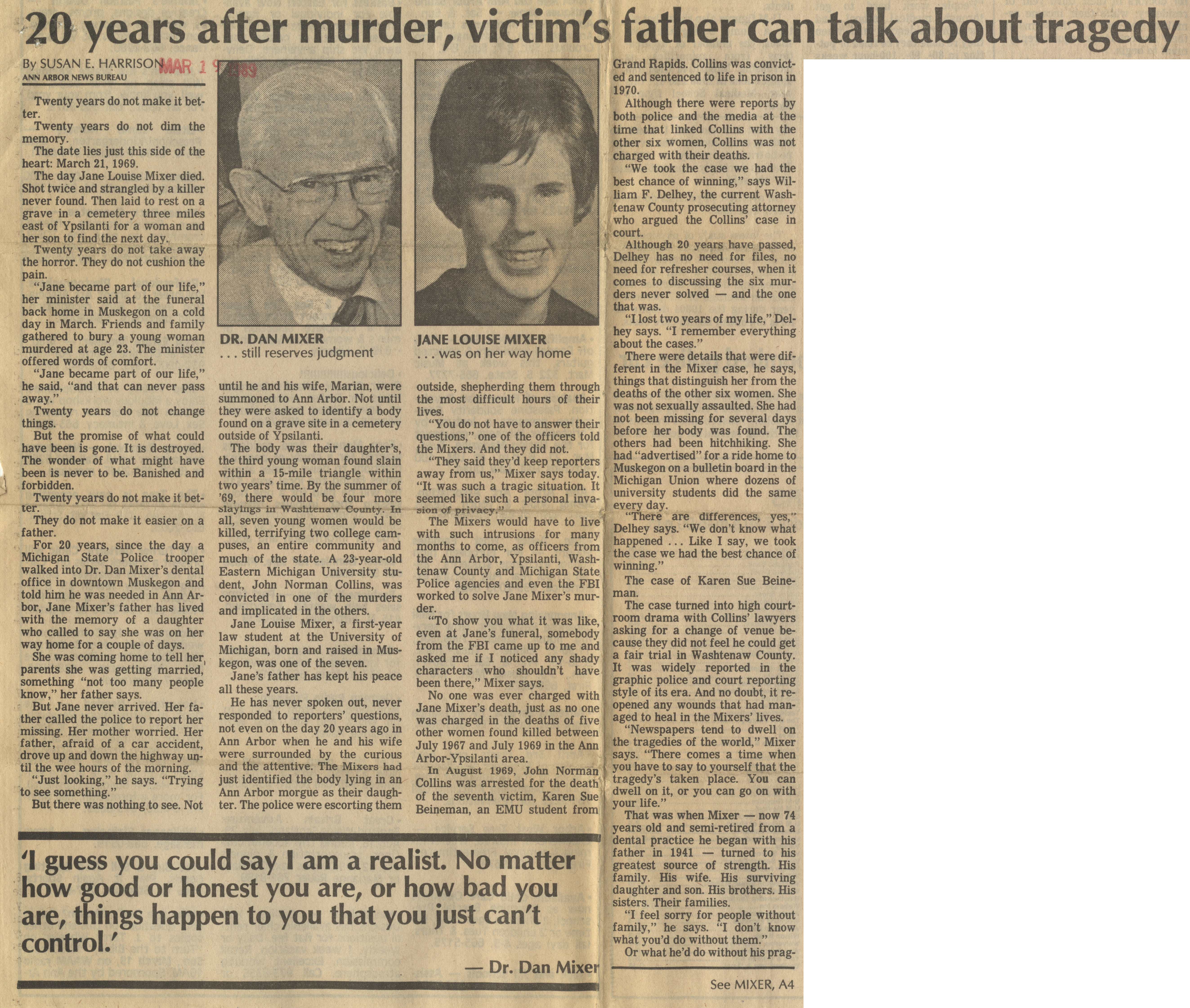 20 years after murder, victim's father can talk about tragedy image
