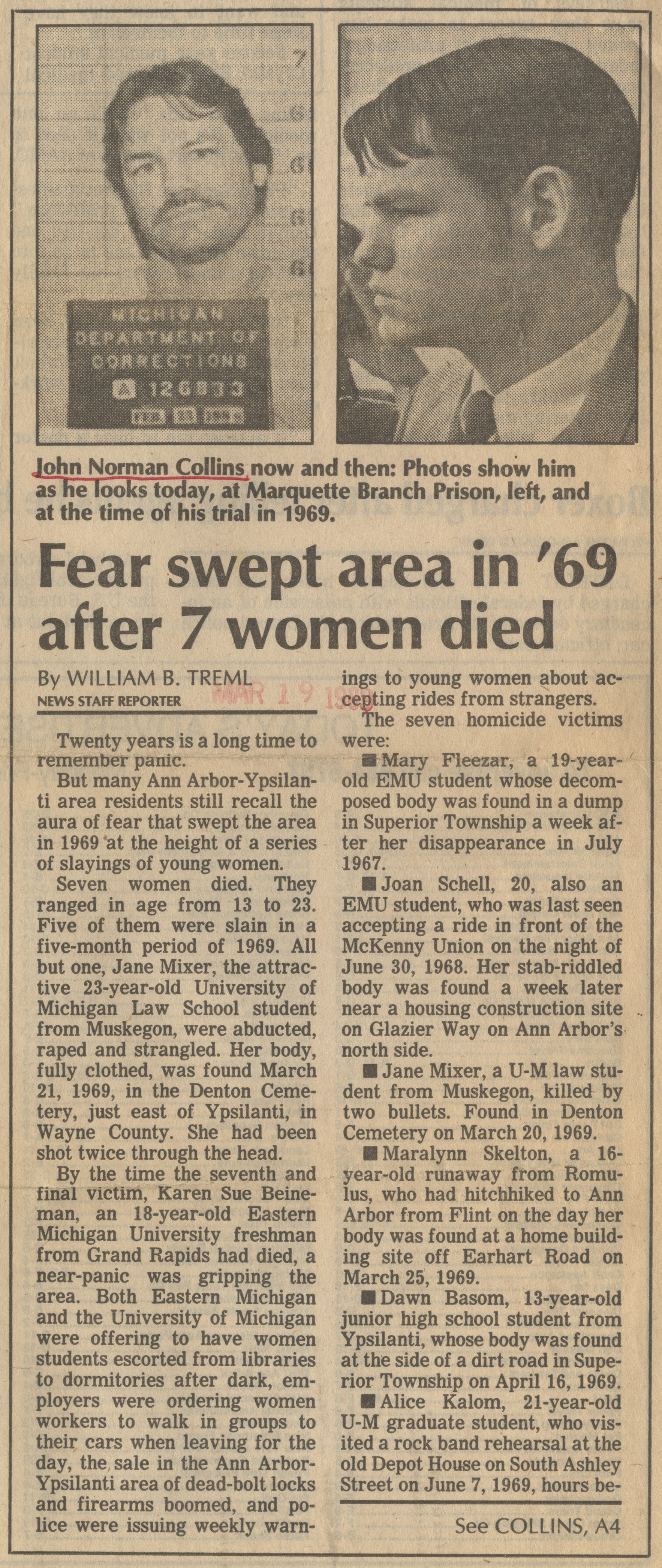 Fear swept area in '60 after 7 women died image