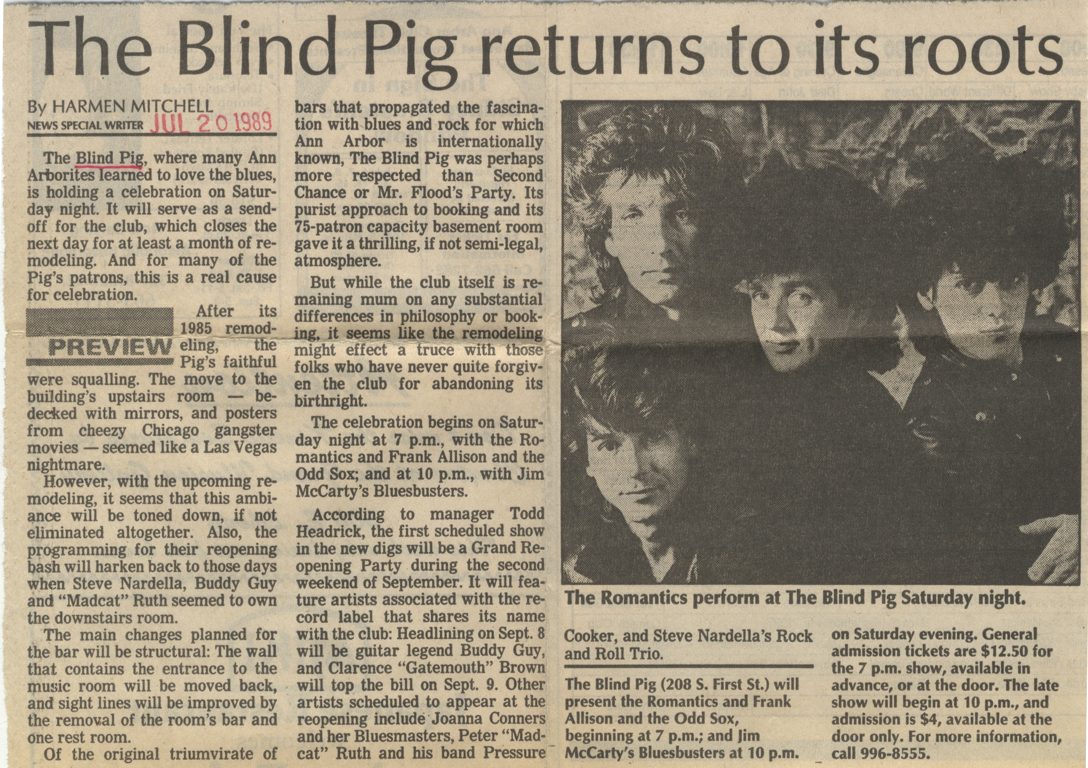 The Blind Pig Returns To Its Roots image