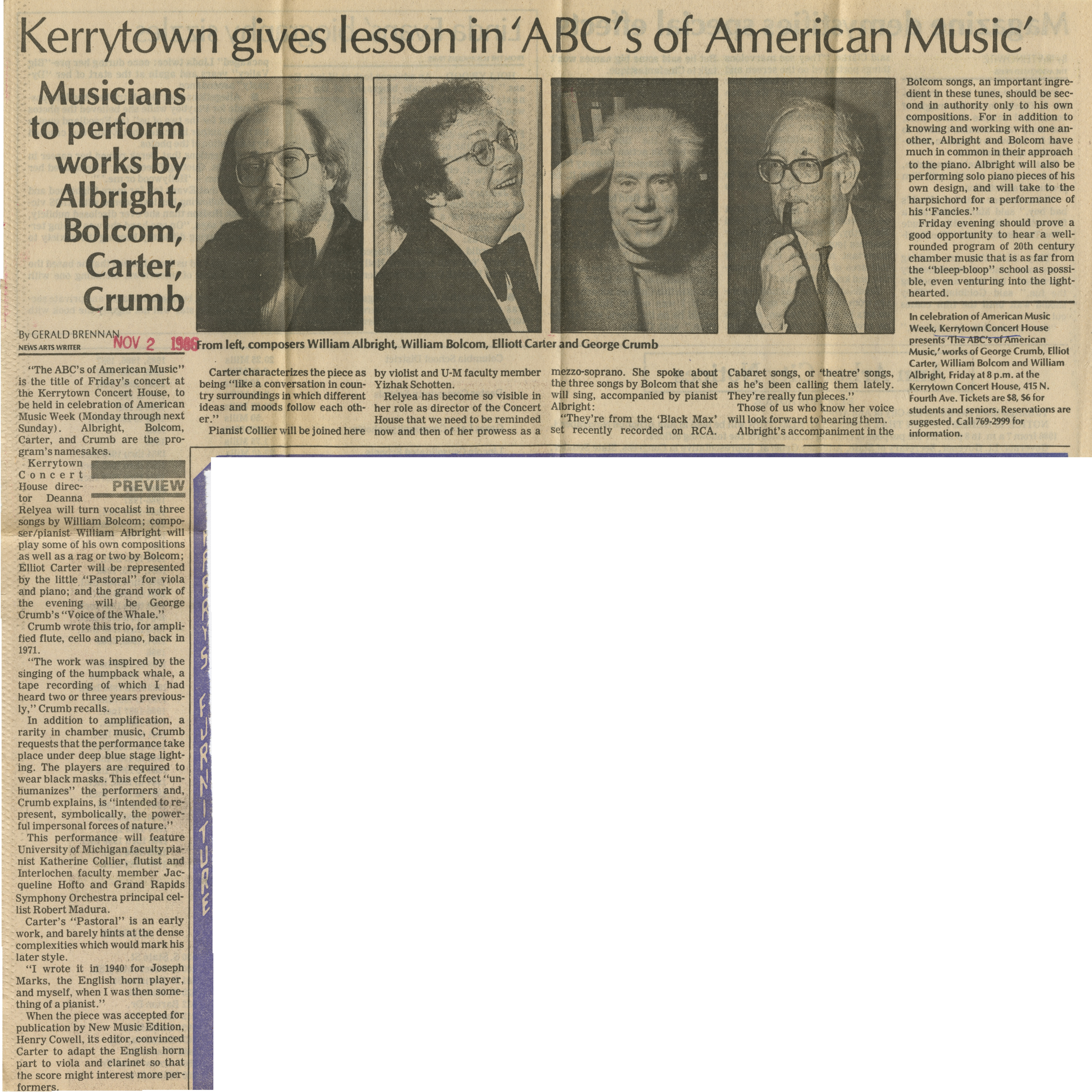 Kerrytown gives lesson in 'ABCs of American Music' image
