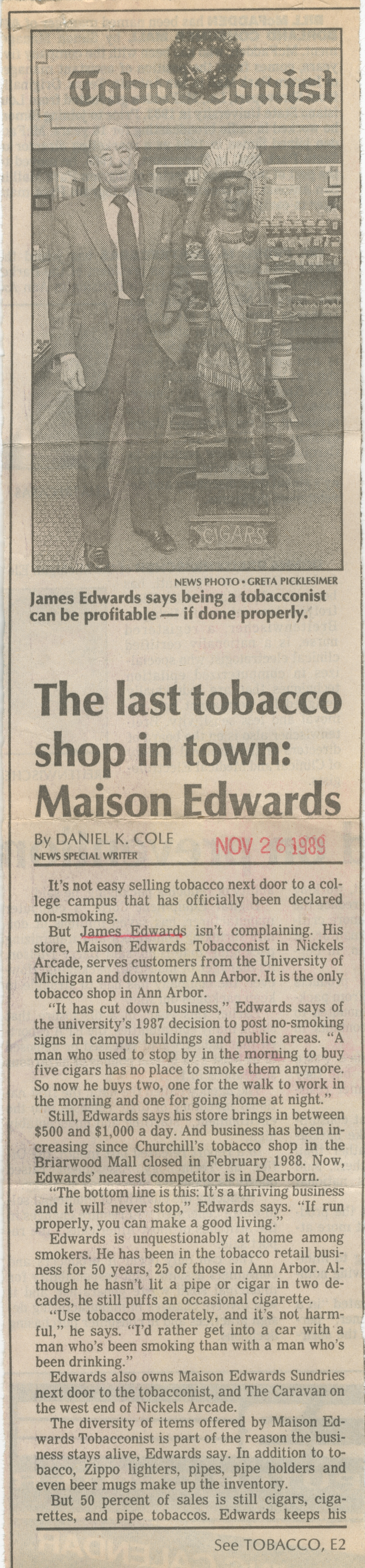 The last tobacco shop in town: Maison Edwards image
