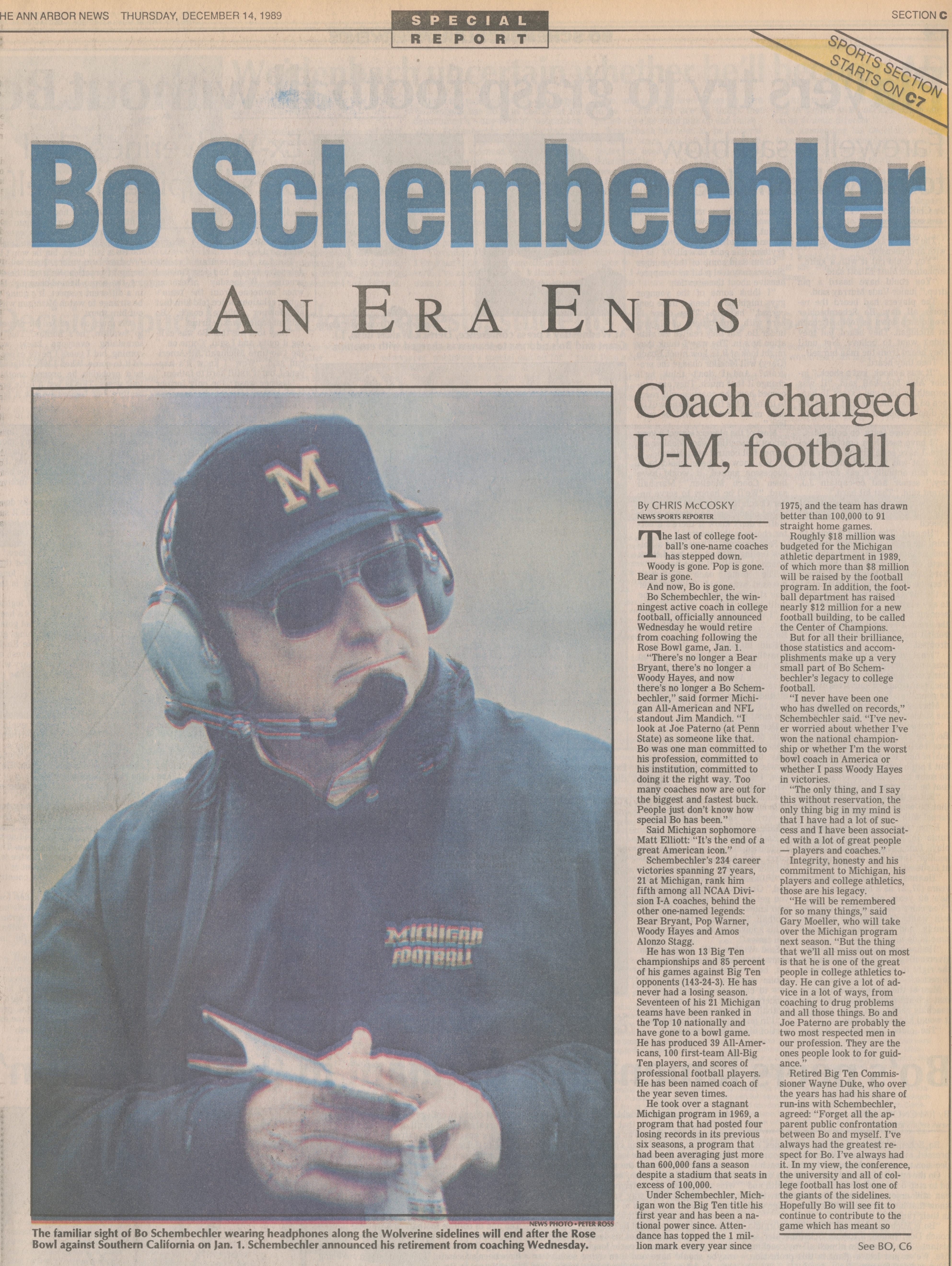 Bo Schembechler - An Era Ends image