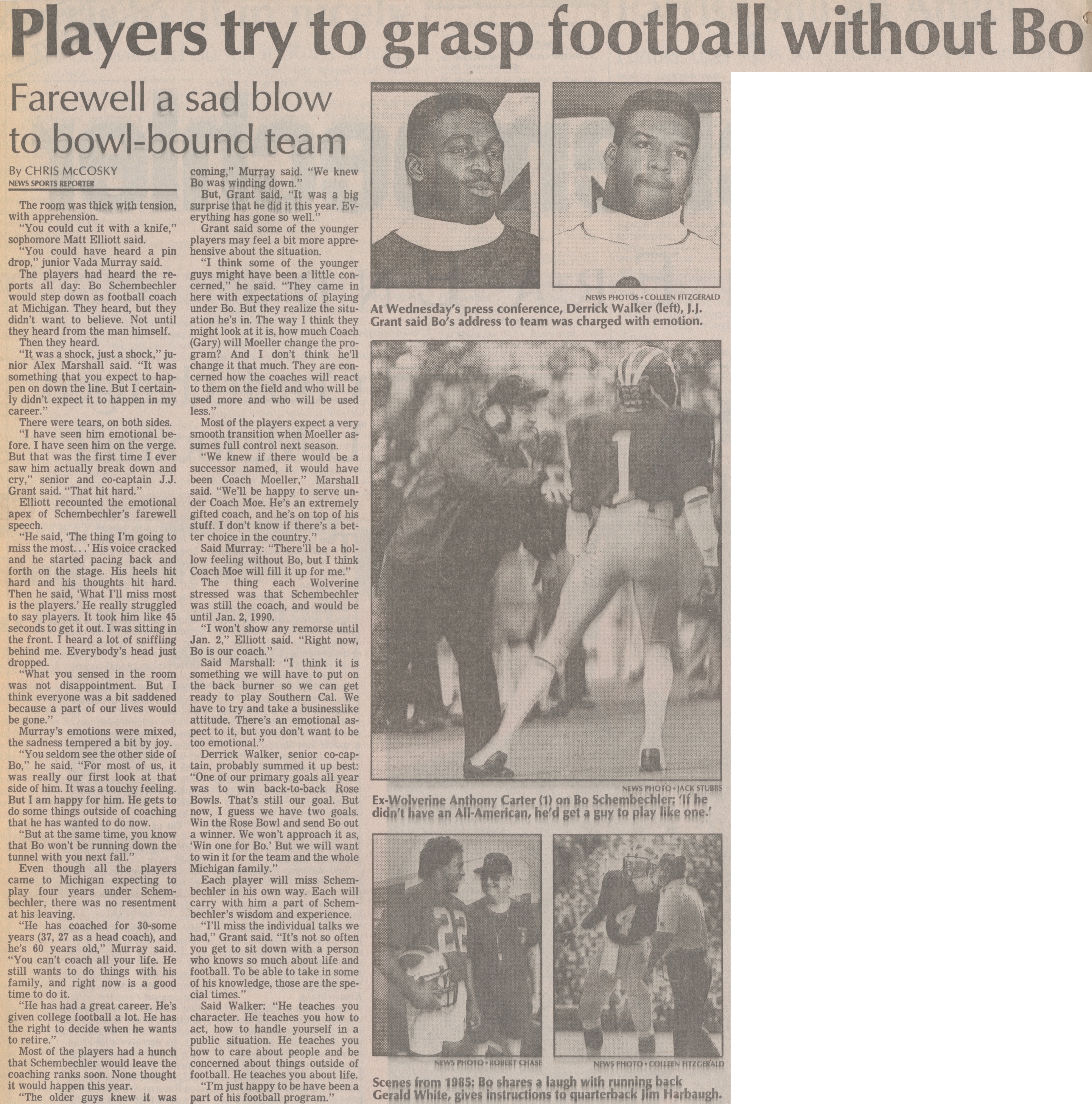 Players Try To Grasp Football Without Bo image