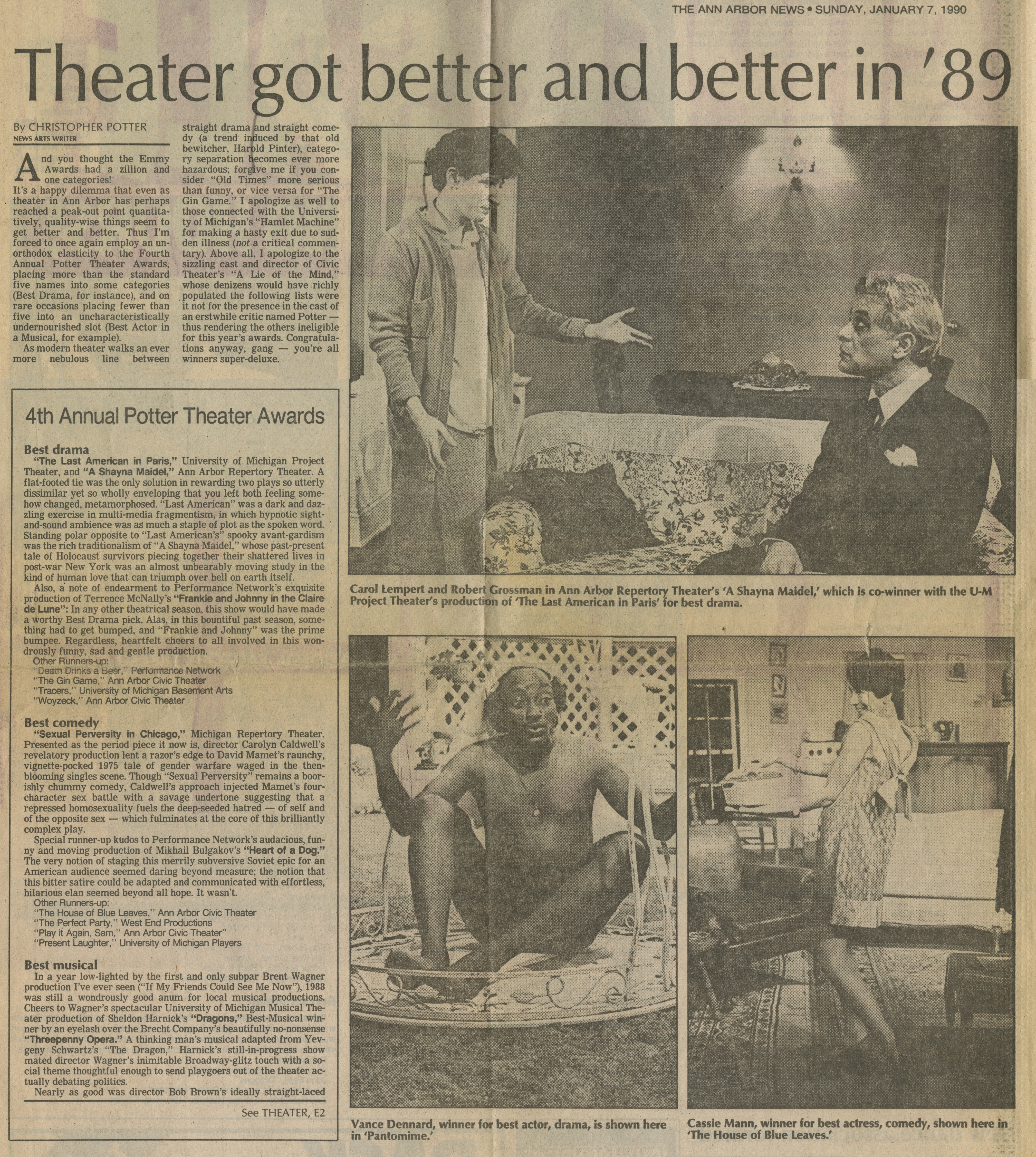 Theater got better and better in '89 image