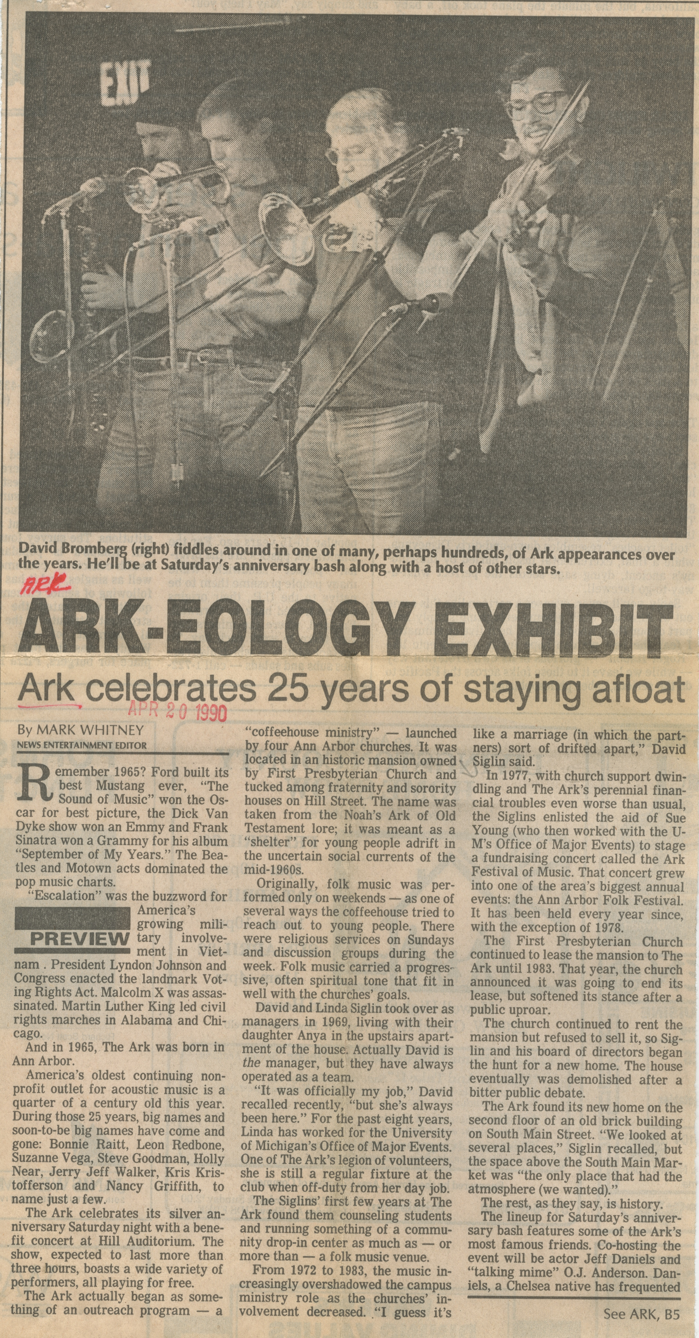 ARK-EOLOGY EXHIBIT image
