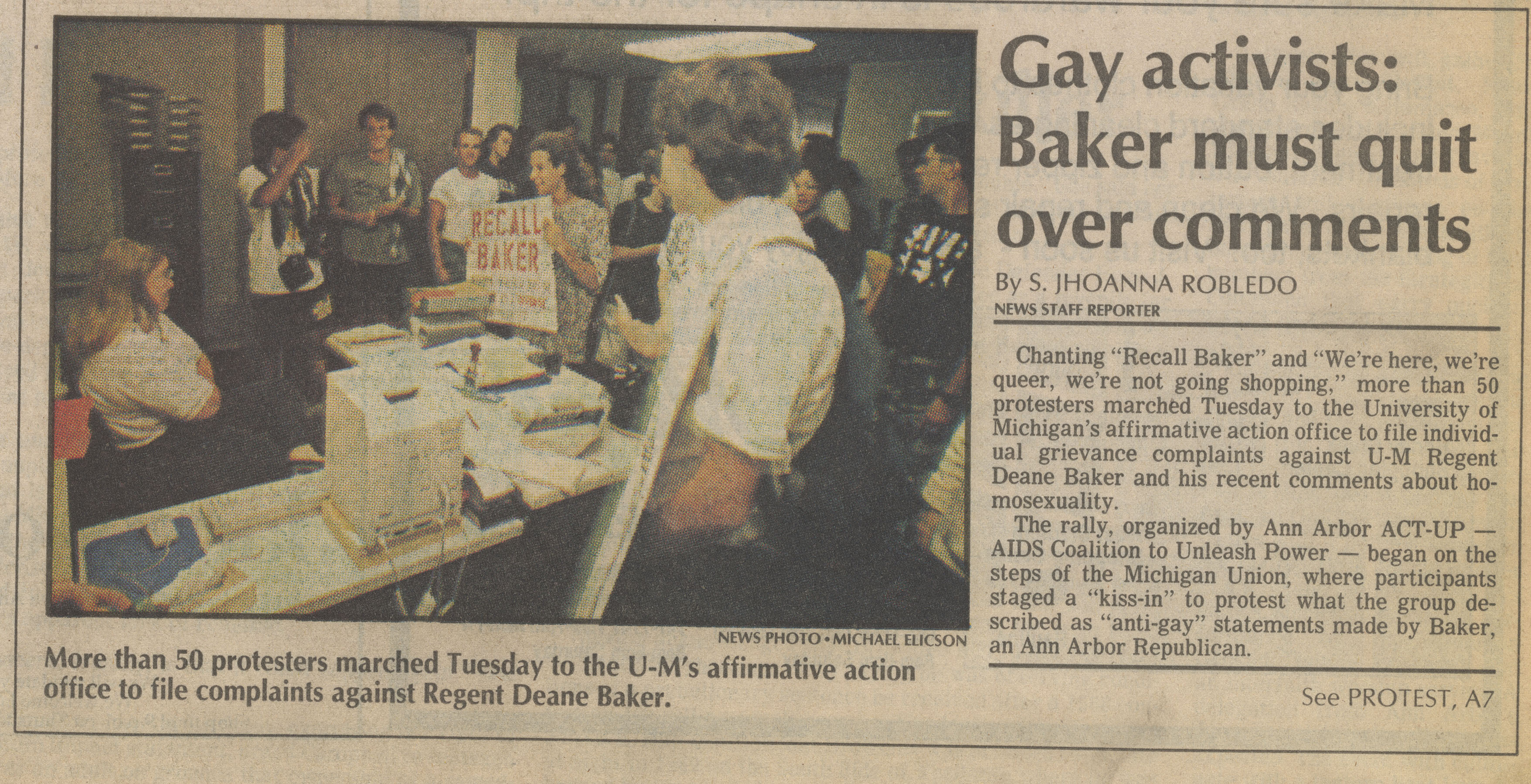 Gay activists: Baker must quit over comments image