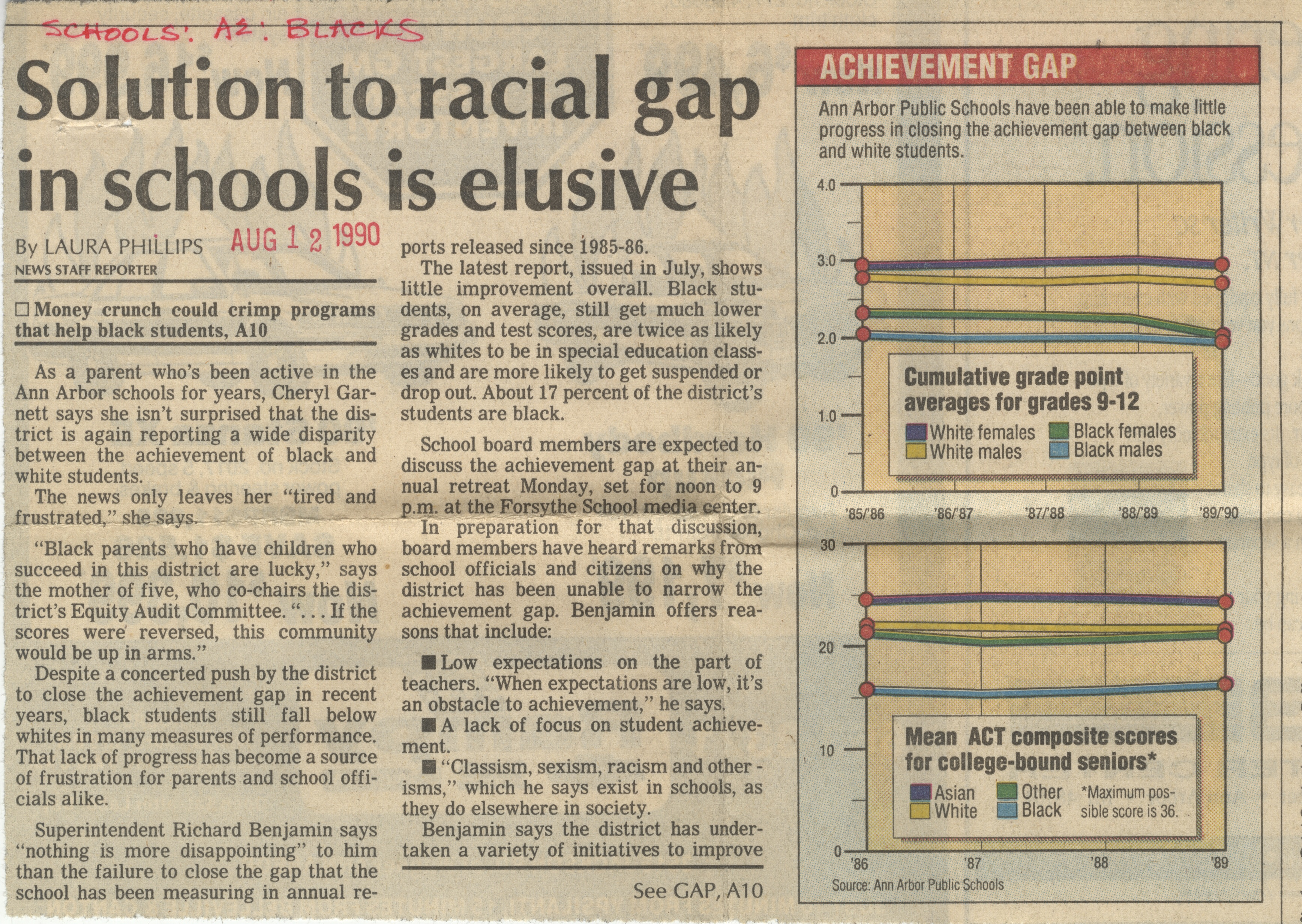 Solution To Racial Gap In Schools Is Elusive image
