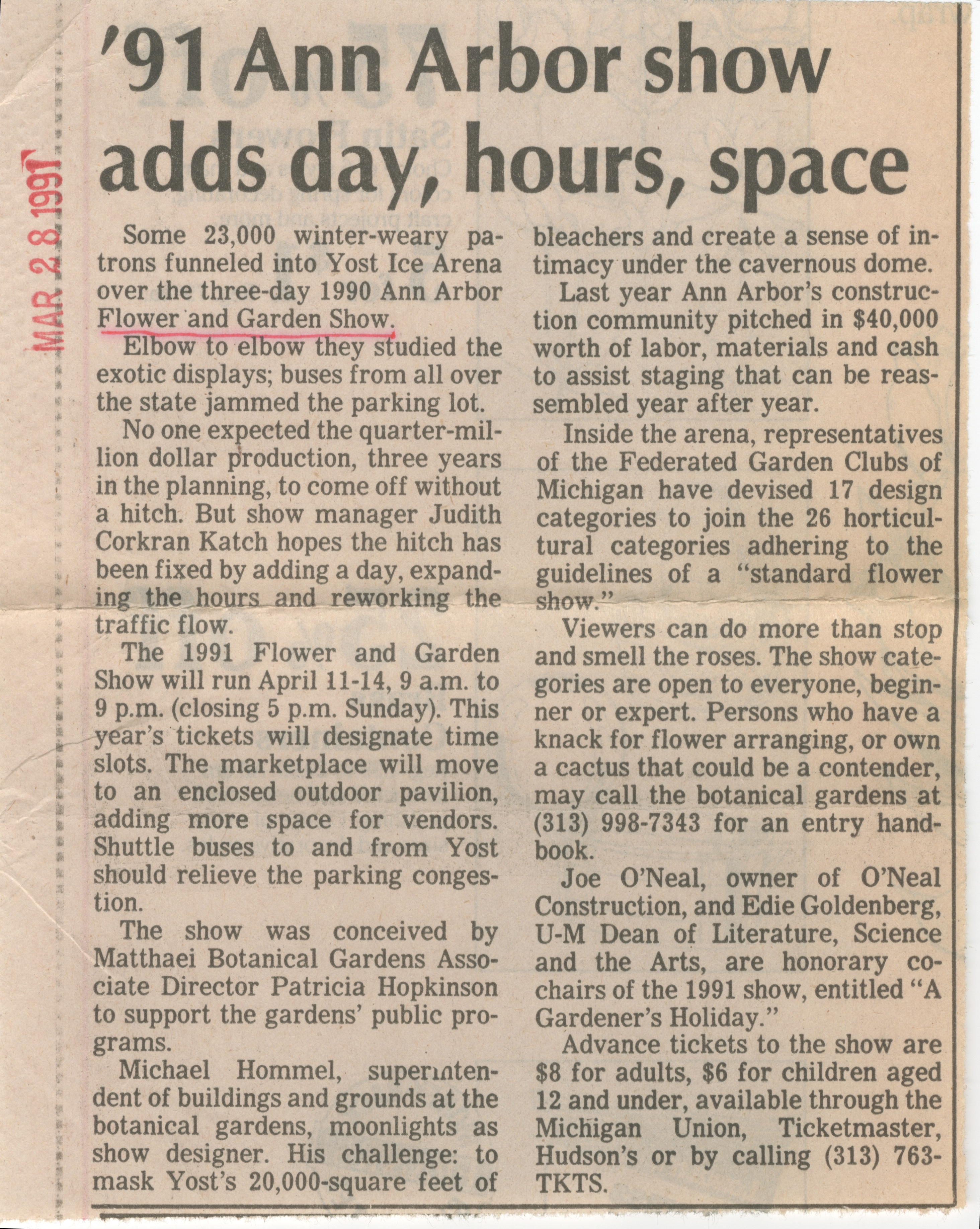 '91 Ann Arbor Show Adds Day, Hours, Space image