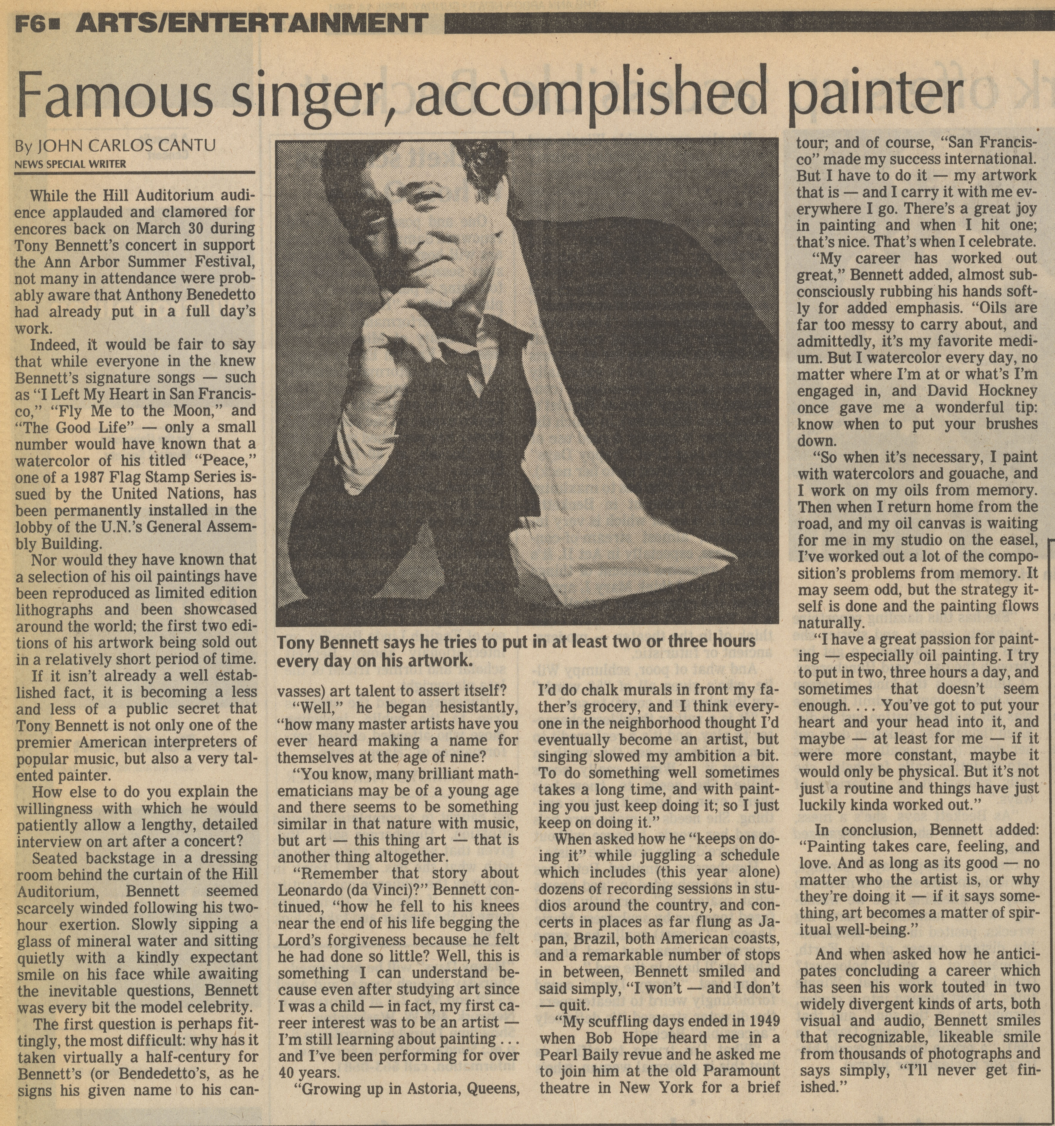 Famouse singer, accomplished painter image