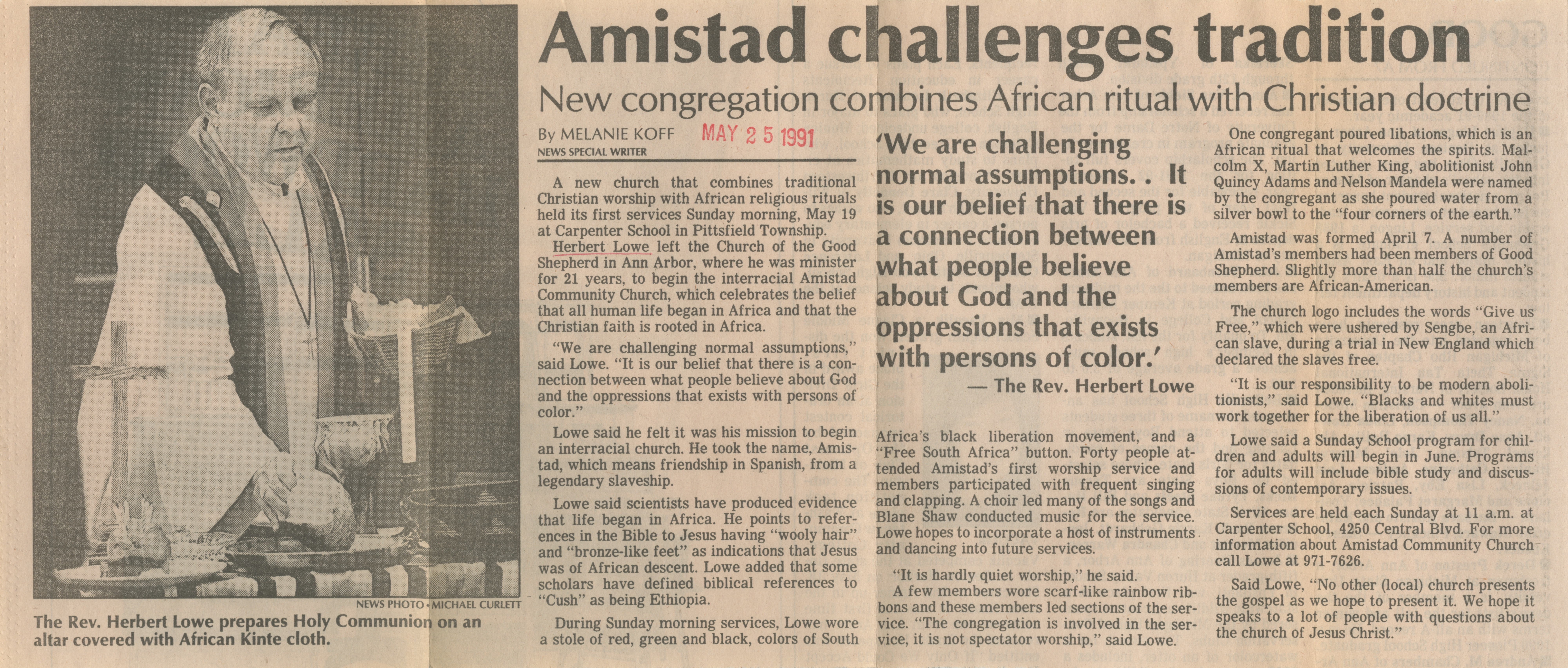 Amistad challenges tradition image