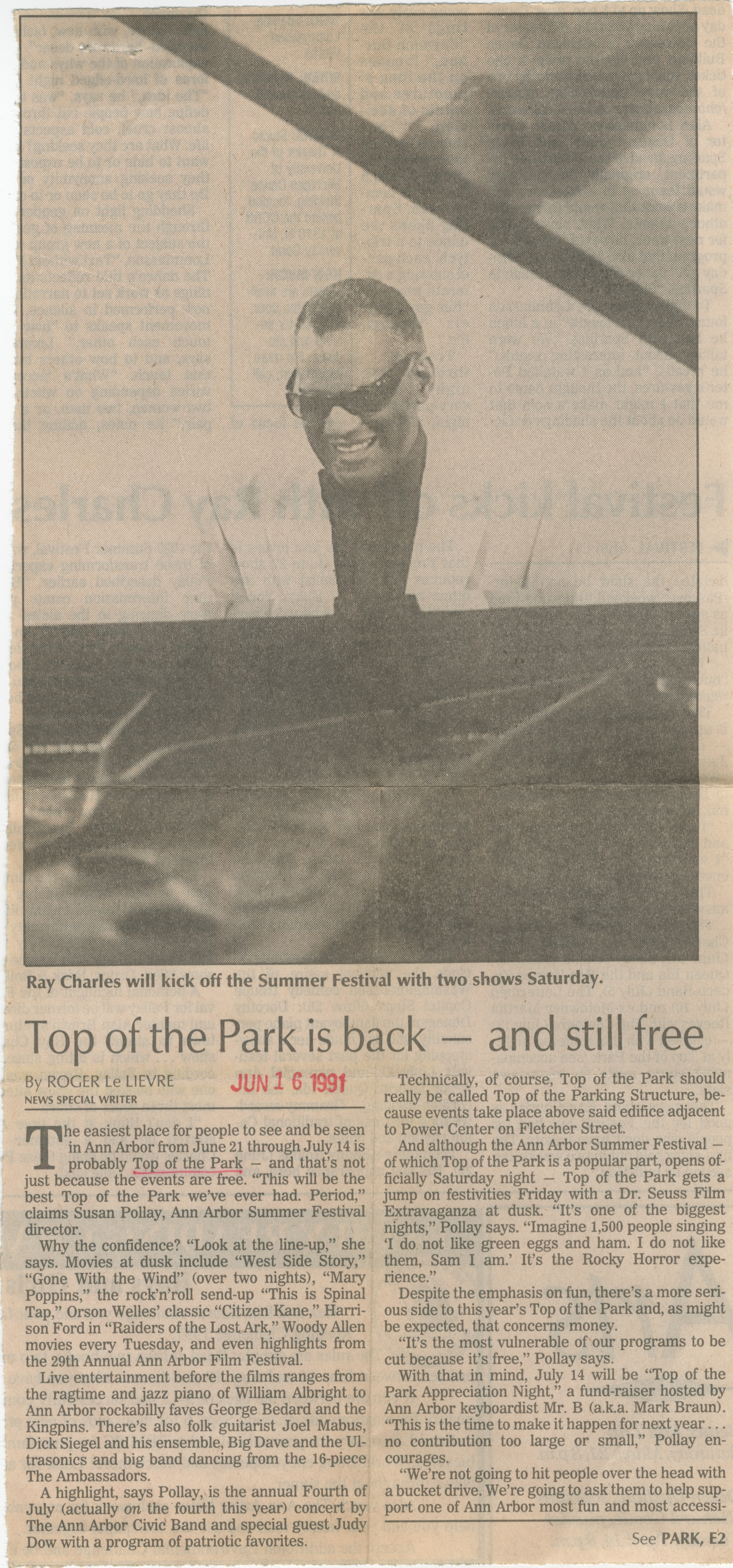 Top of the Park is back - and still free image
