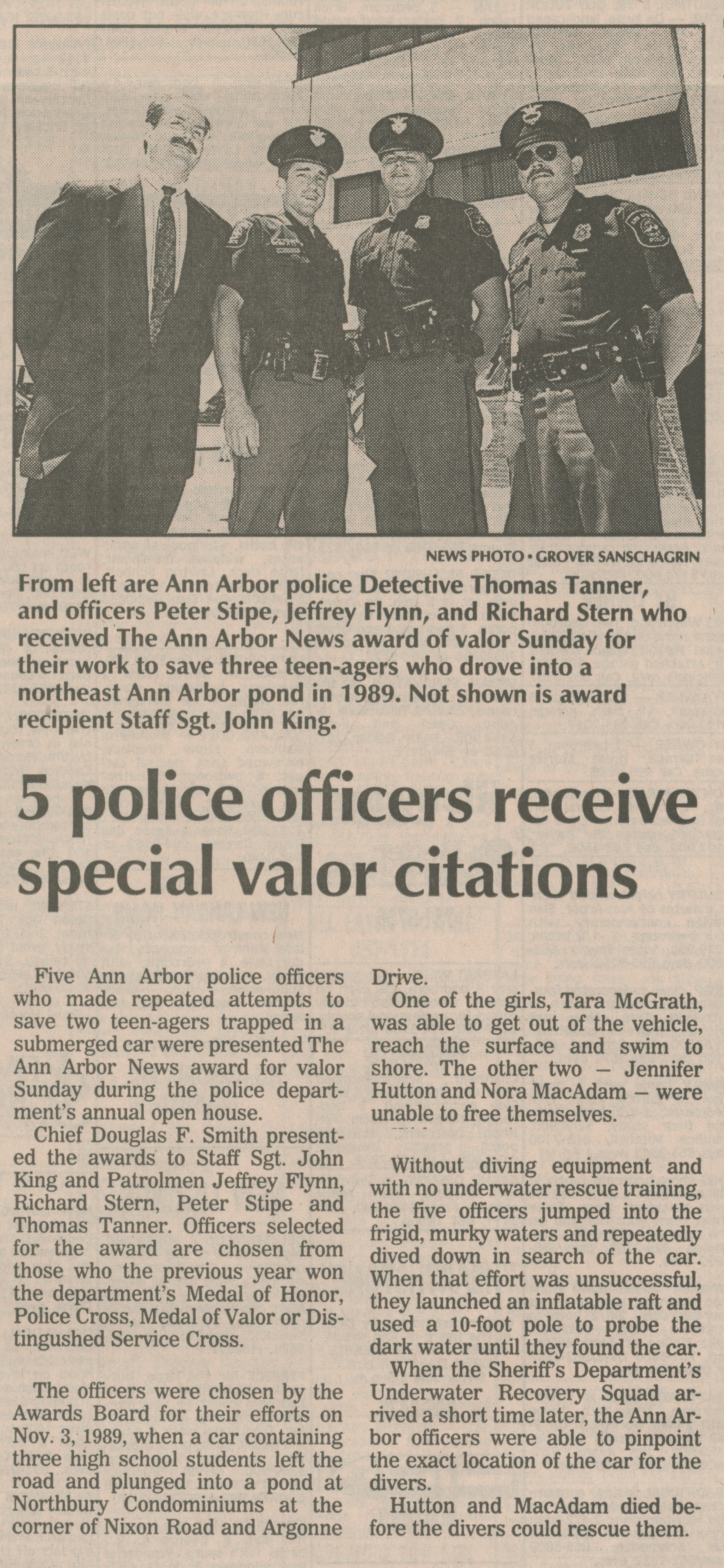 5 police officers receive special valor citations image