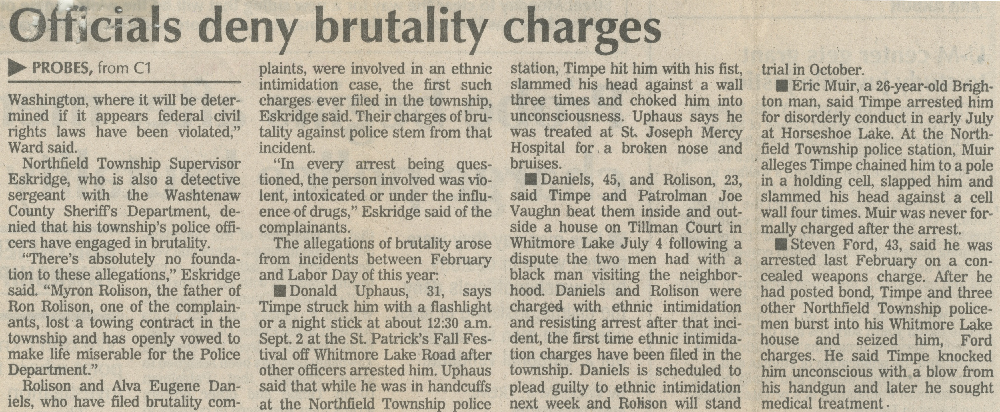 recent police brutality articles