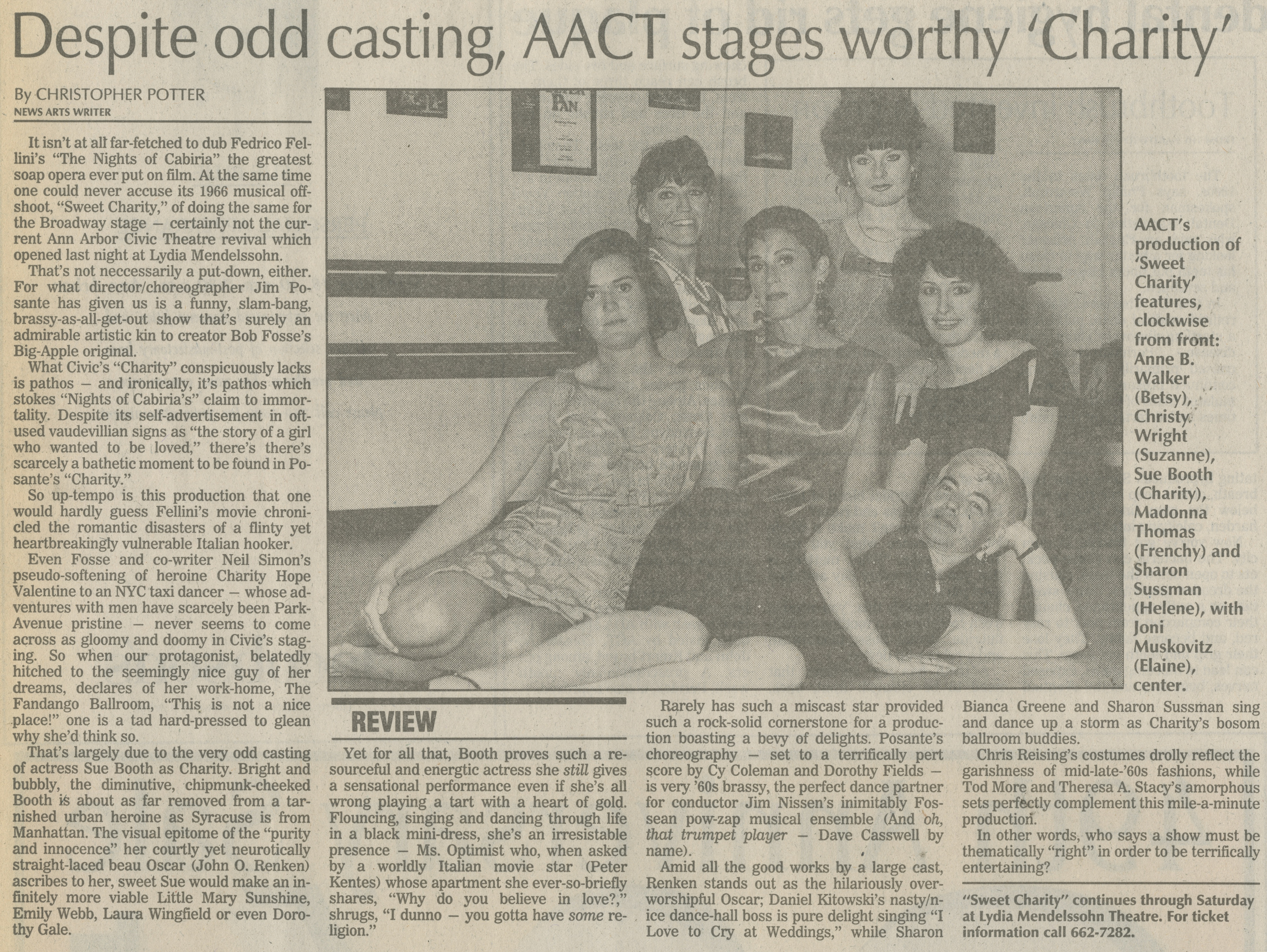 Despite Odd Casting, AACT Stages Worthy 'Charity' image